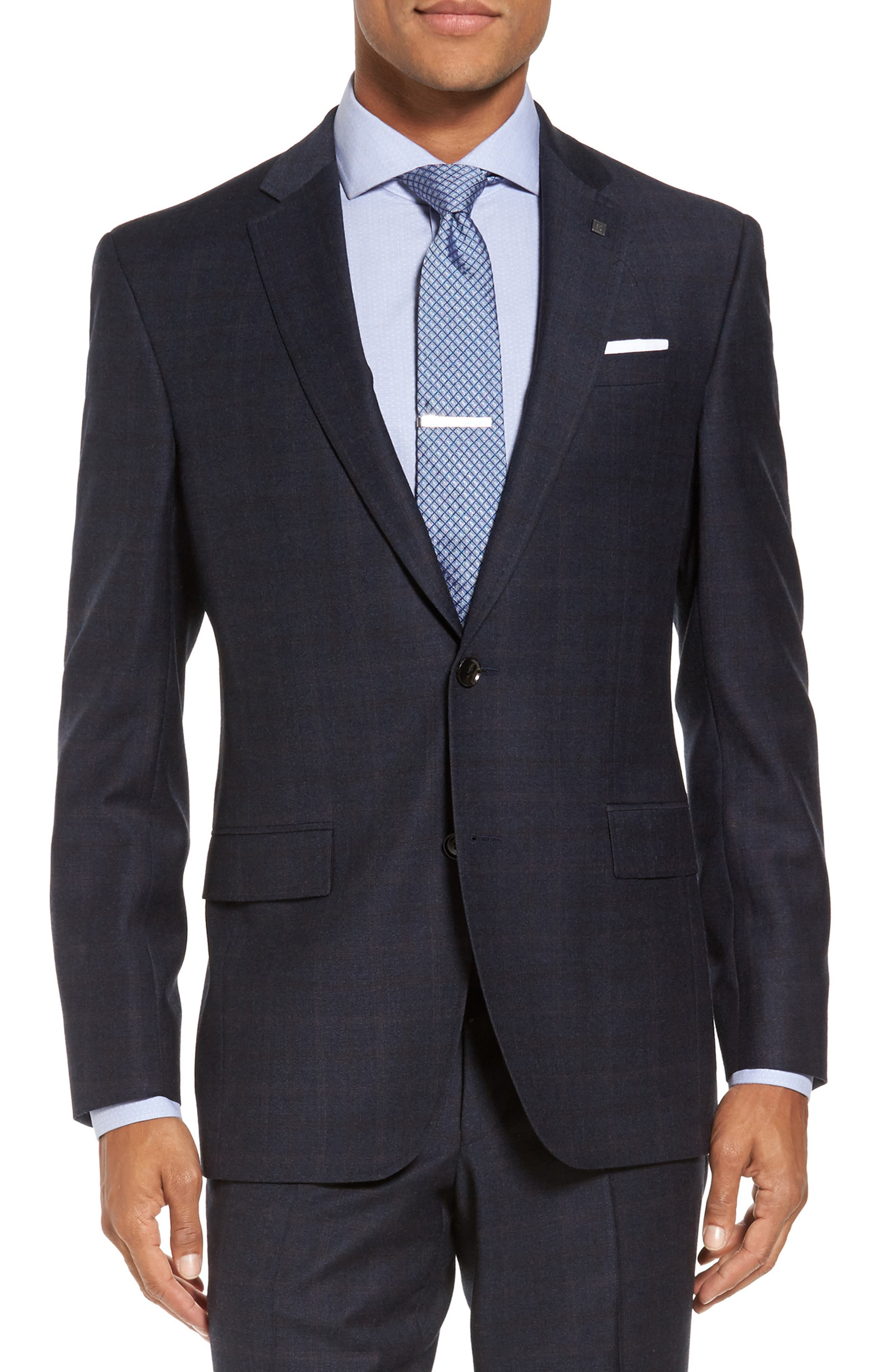 Alternate Image 5  - Ted Baker London Jay Trim Fit Plaid Wool Suit