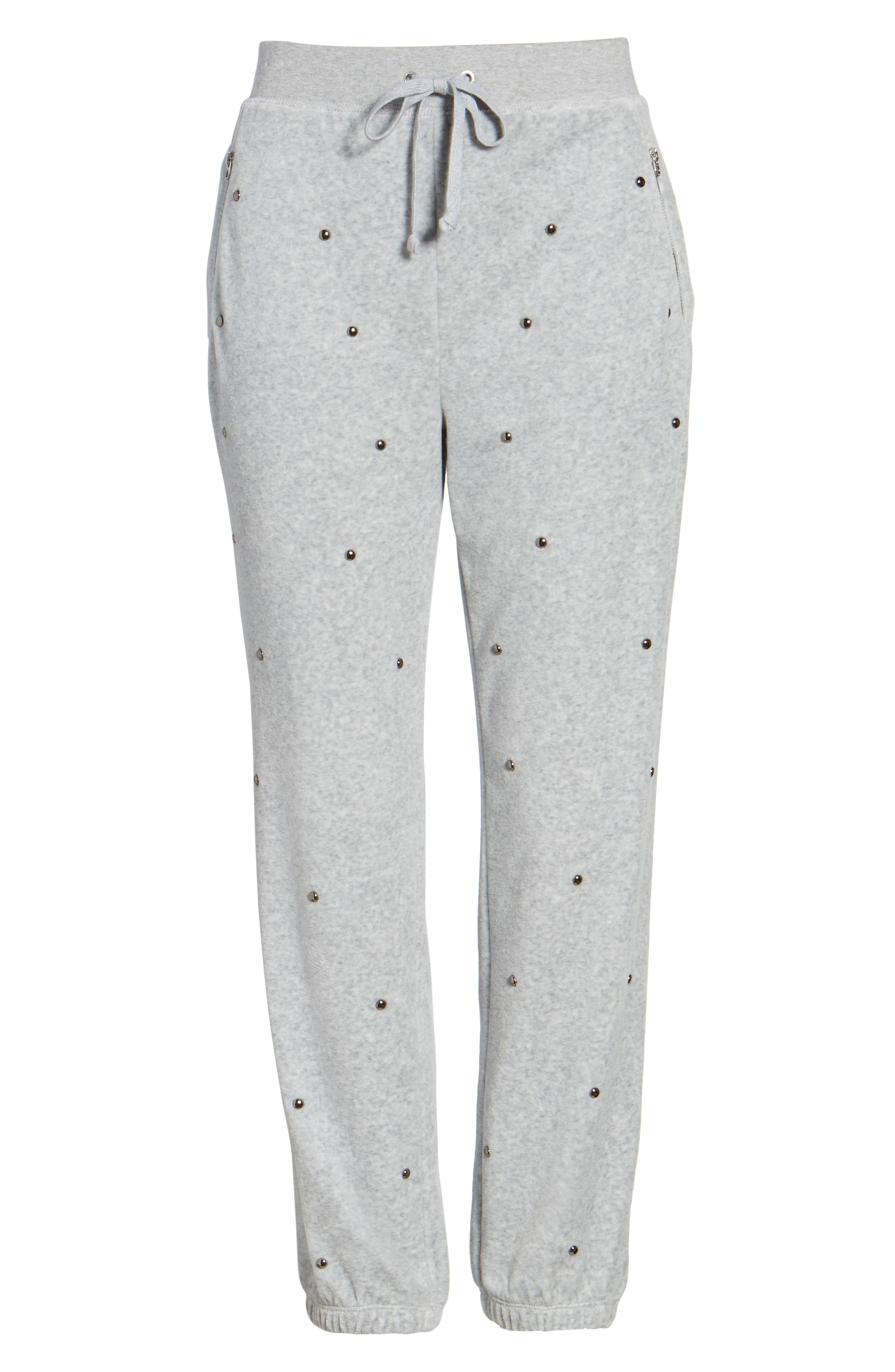 Alternate Image 6  - Juicy Couture Velour Studded Track Pants