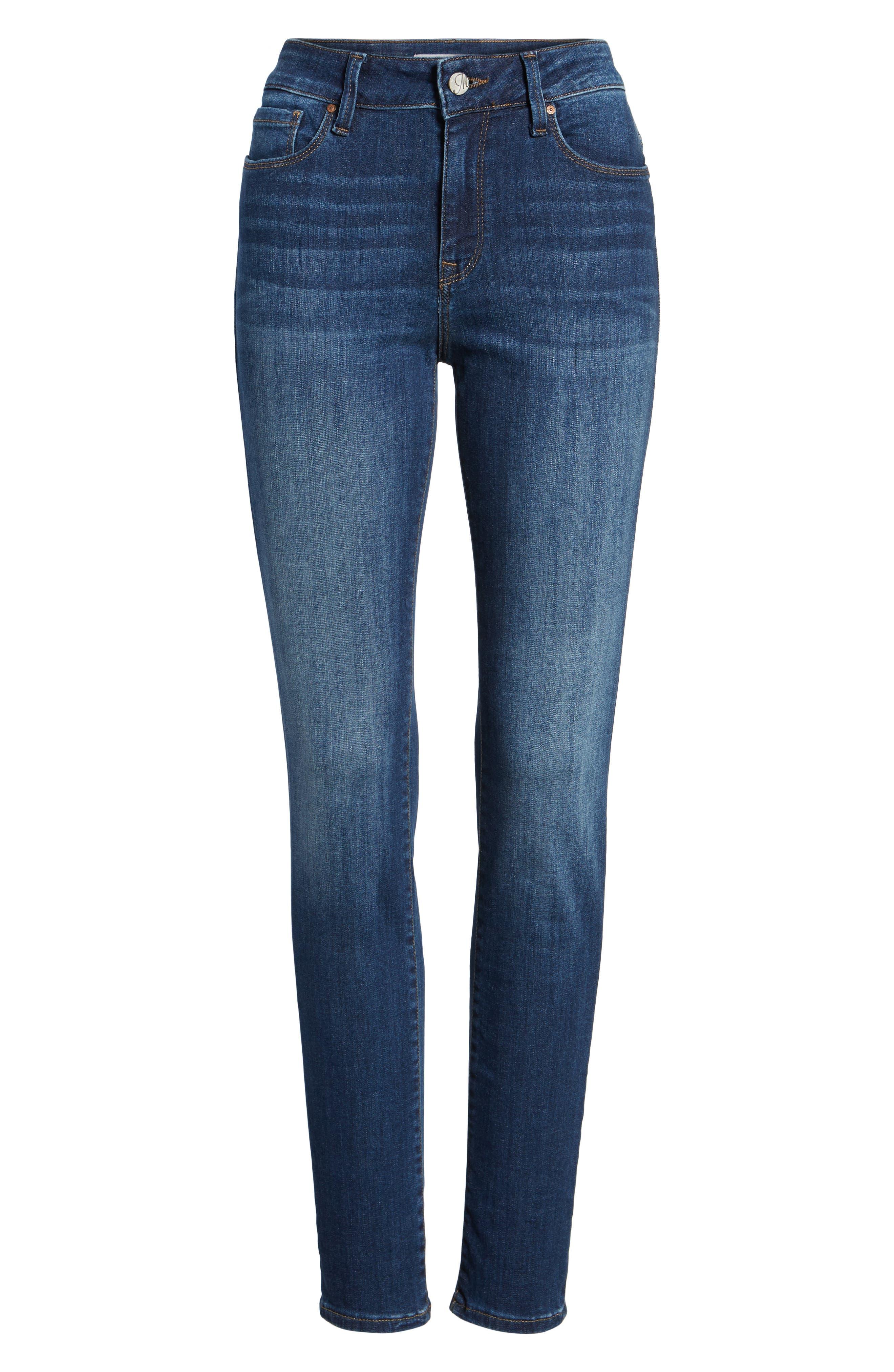 Alissa Super Skinny Jeans,                             Alternate thumbnail 6, color,                             Dark Indigo Tribeca