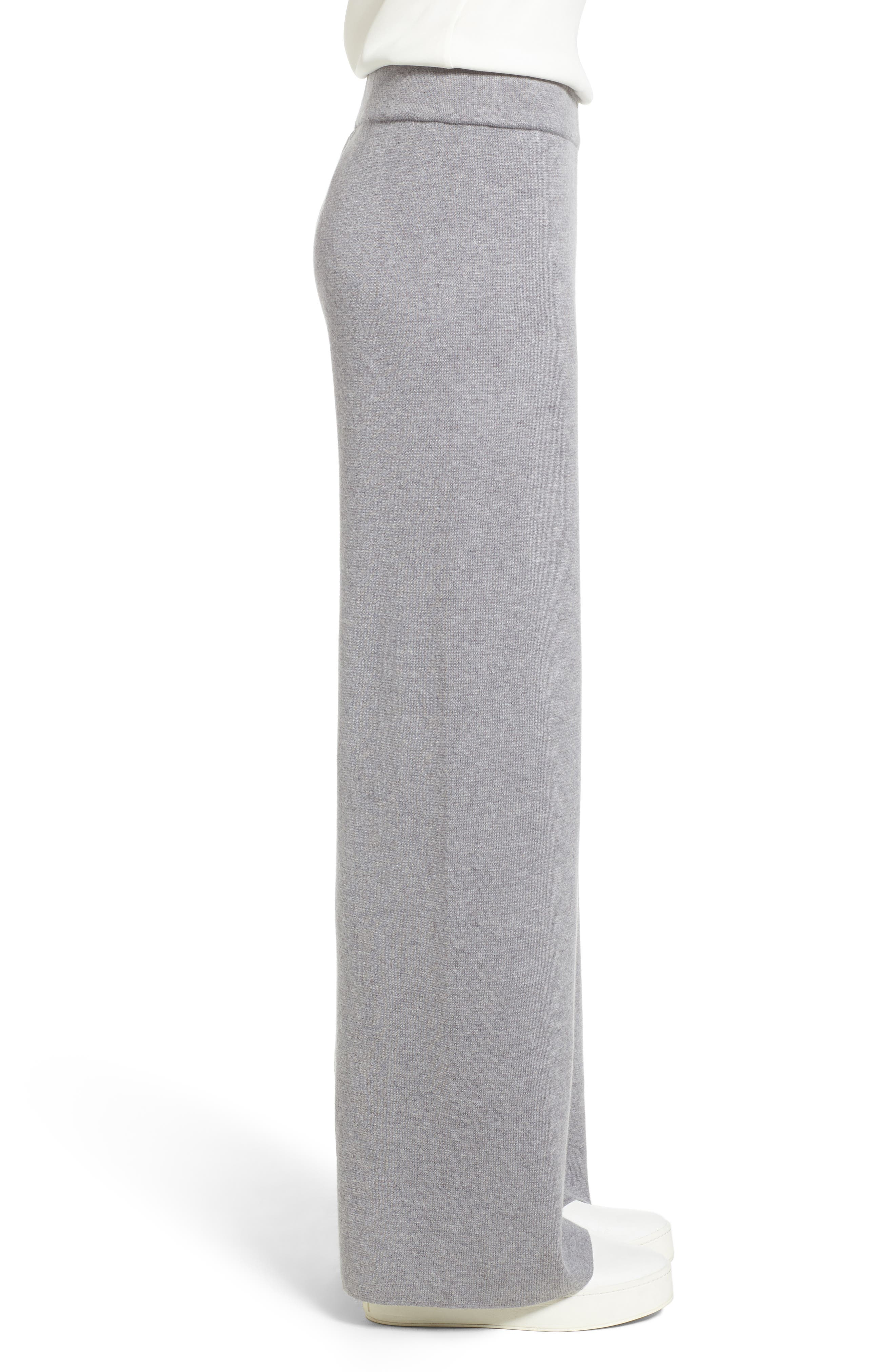Heathered Knit Pants,                             Alternate thumbnail 3, color,                             Warm Grey
