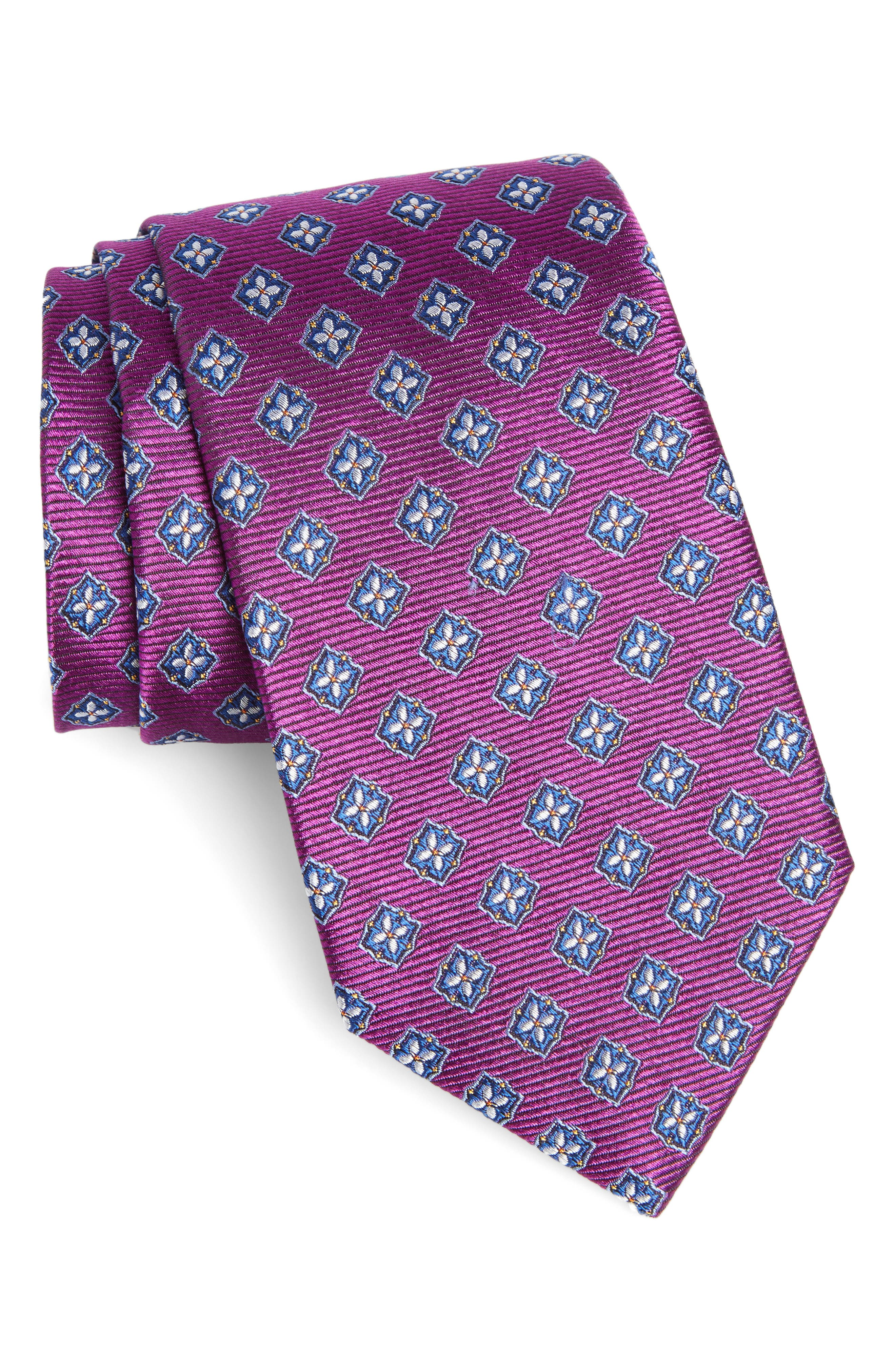 Nordstrom Men's Shop Medallion Silk Tie (X-Long)