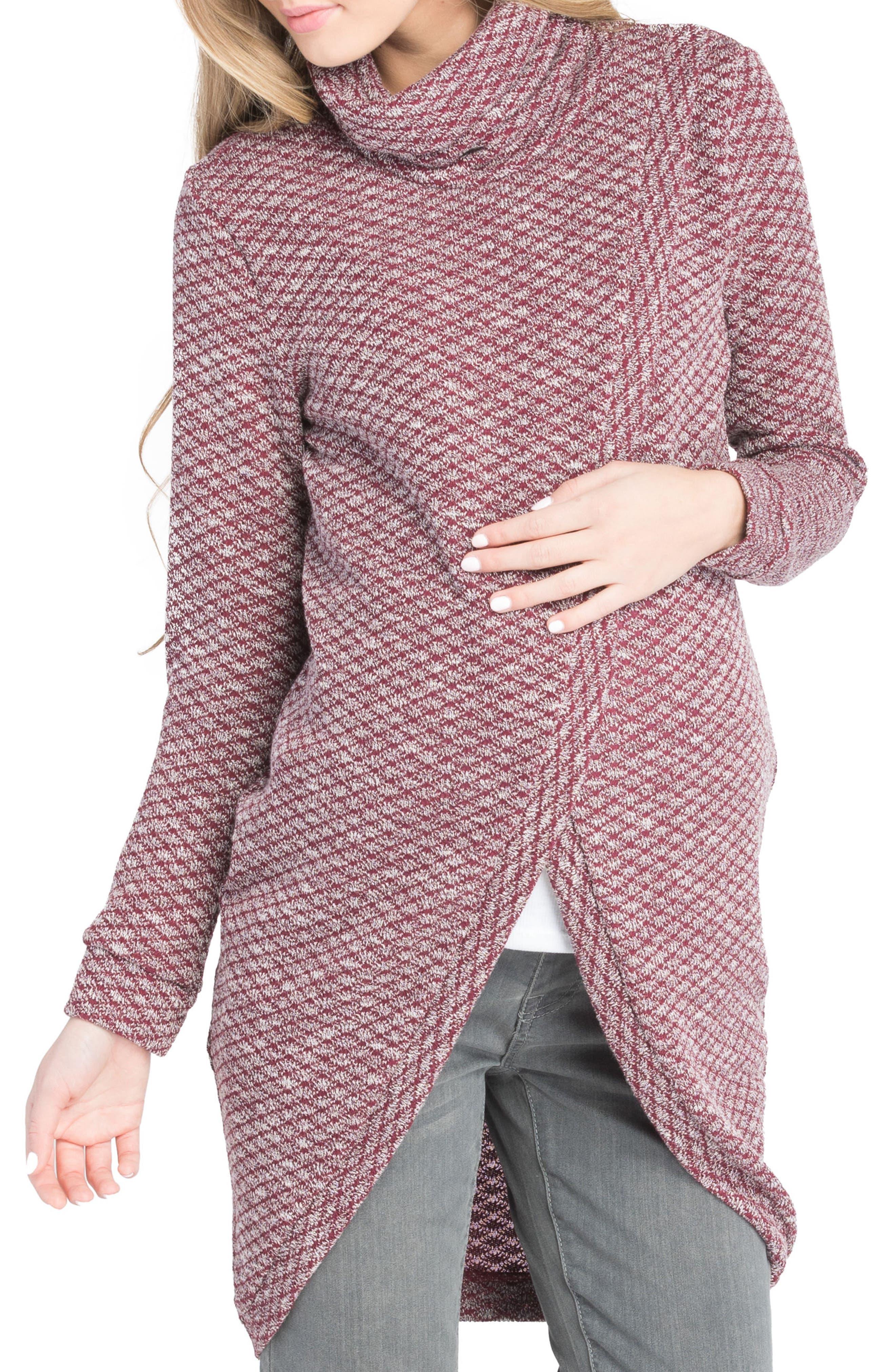 Alternate Image 1 Selected - Lilac Clothing Nursing Tunic Sweater