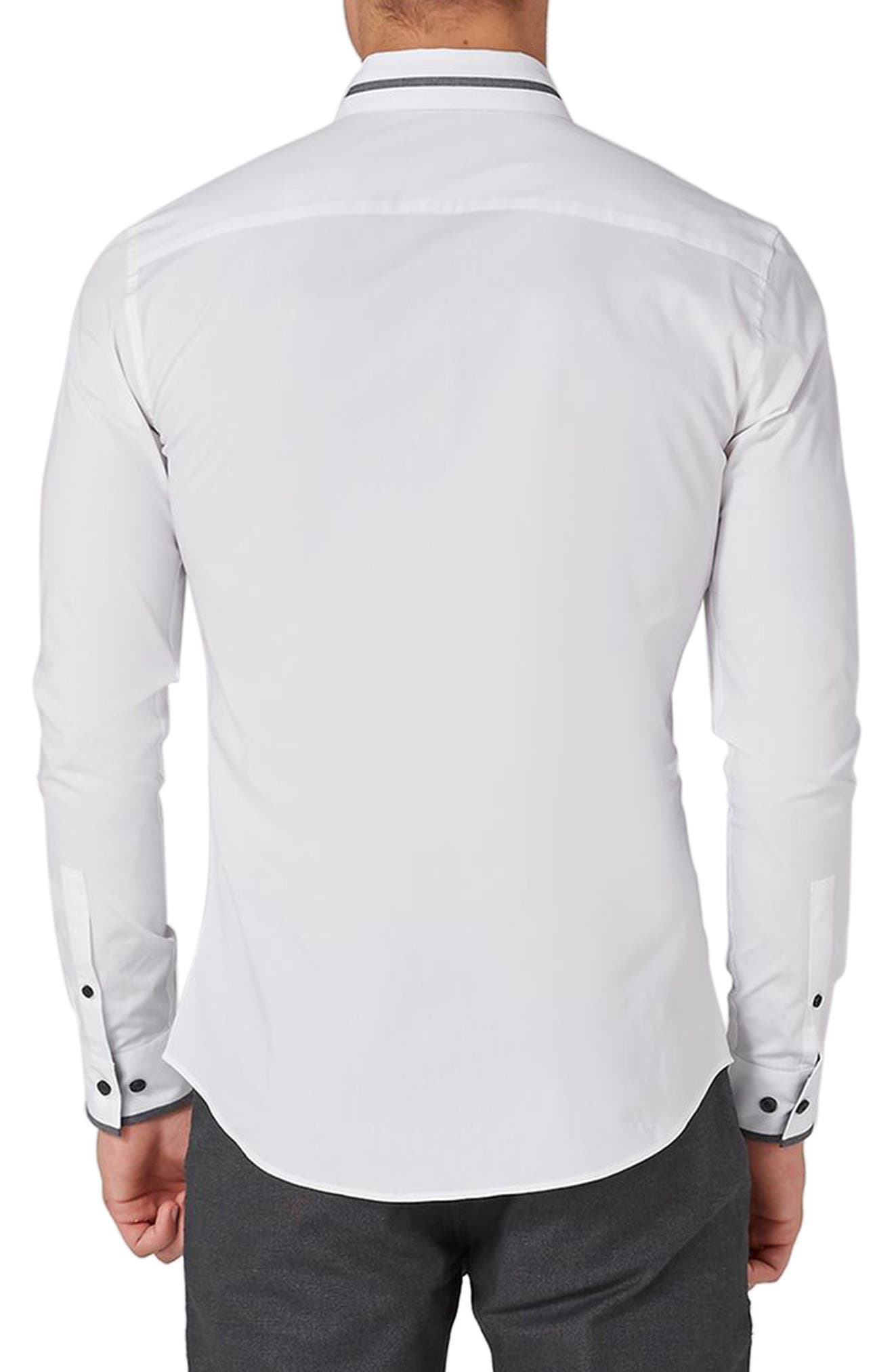 Alternate Image 2  - Topman Muscle Fit Contrast Trim Smart Shirt