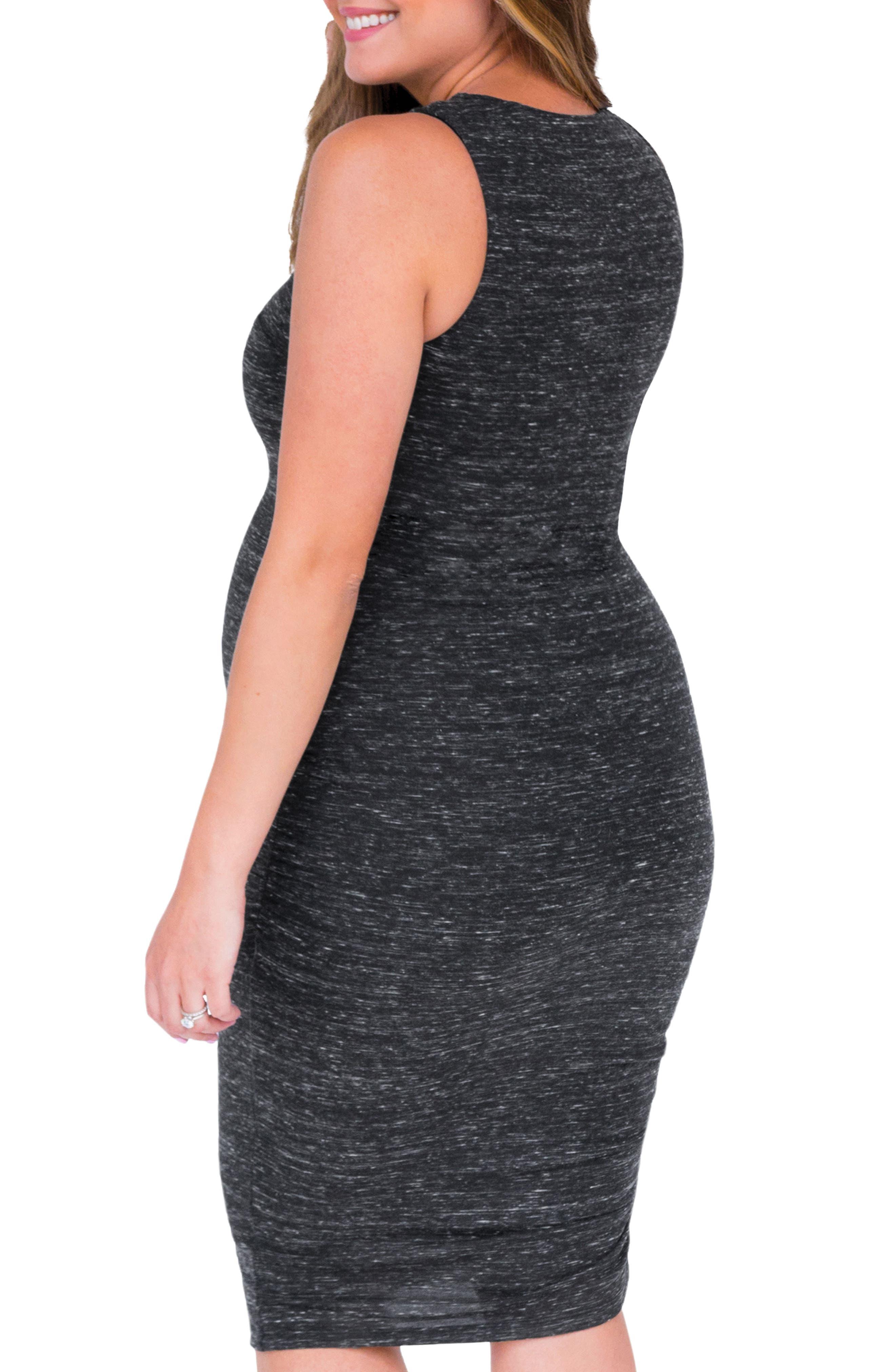 Alternate Image 2  - Belly Bandit® Perfect Ruched Maternity/Nursing Dress