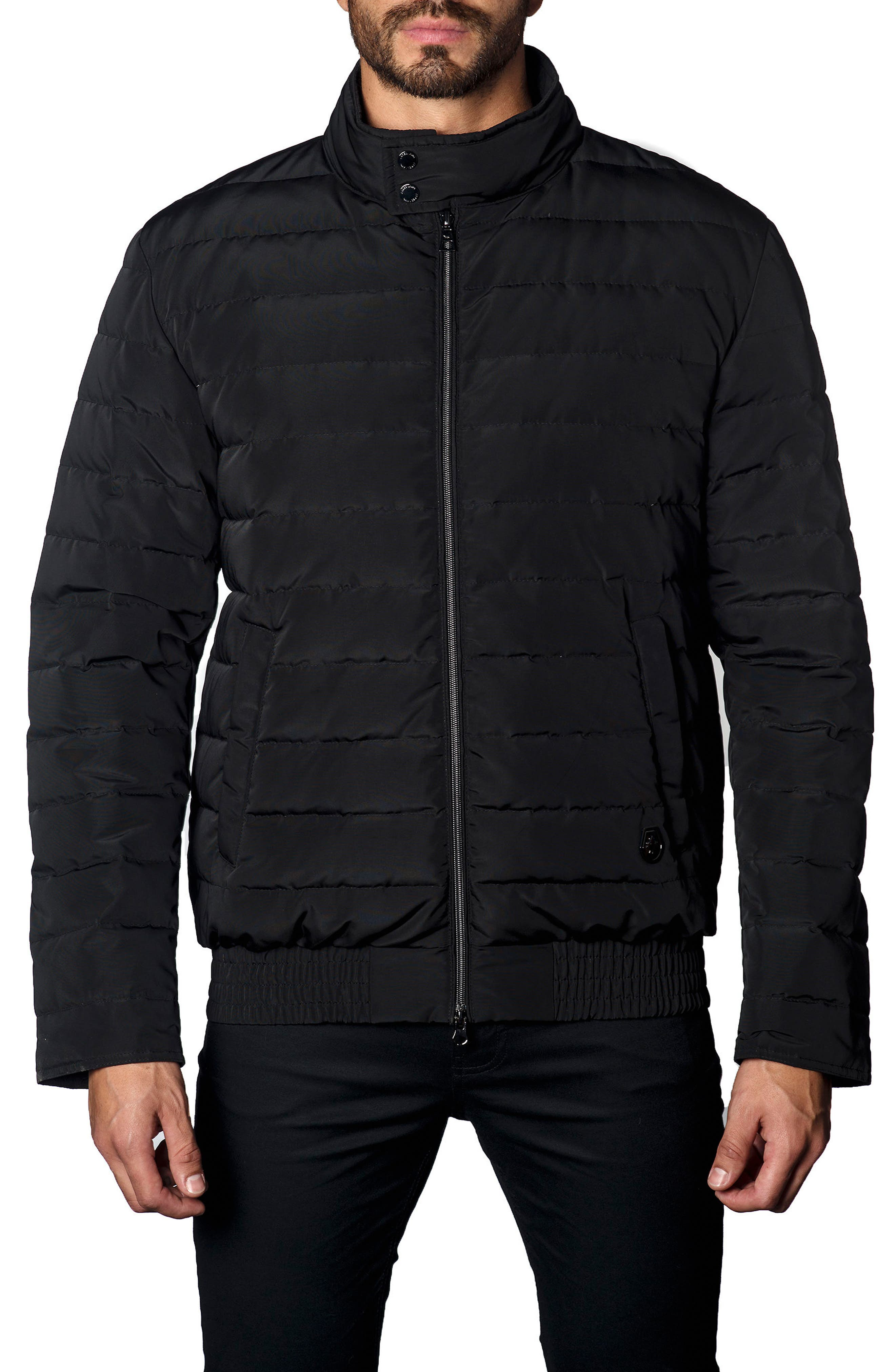 Chicago Down Puffer Jacket,                             Main thumbnail 1, color,                             Black
