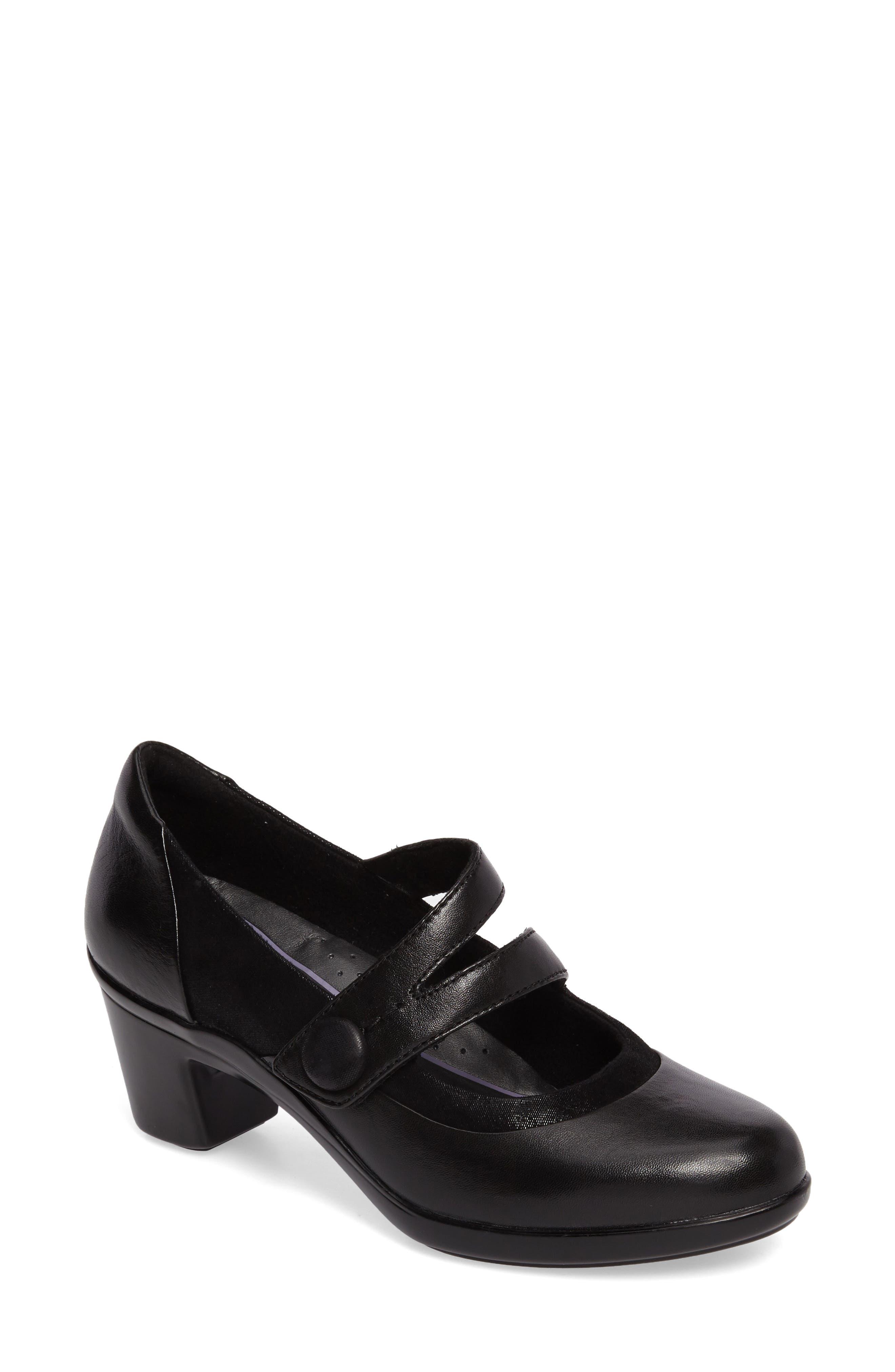 Lexee Mary Jane Pump,                             Main thumbnail 1, color,                             Black Leather
