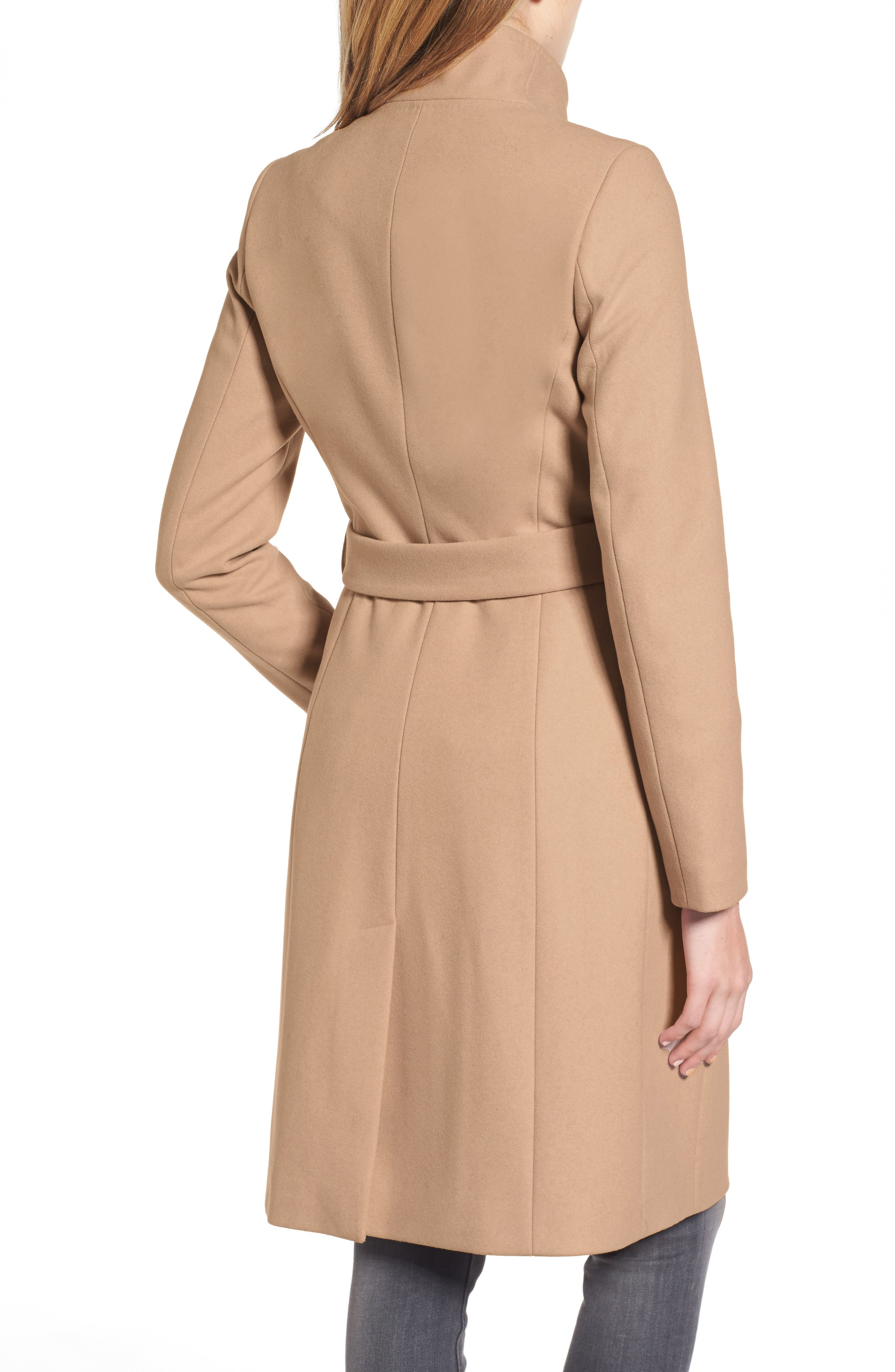 Alternate Image 2  - Ted Baker London Wool Blend Long Wrap Coat