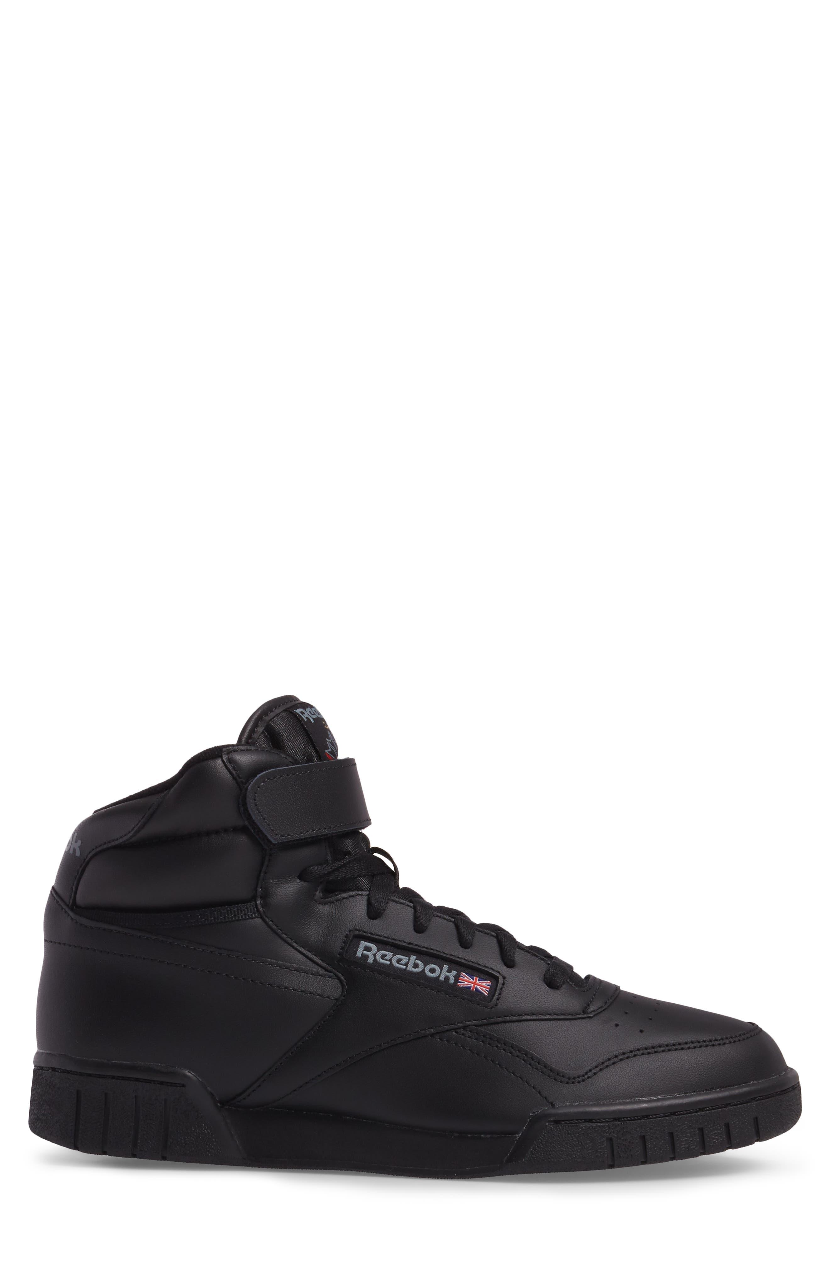 Ex-O-Fit Hi Sneaker,                             Alternate thumbnail 3, color,                             Black