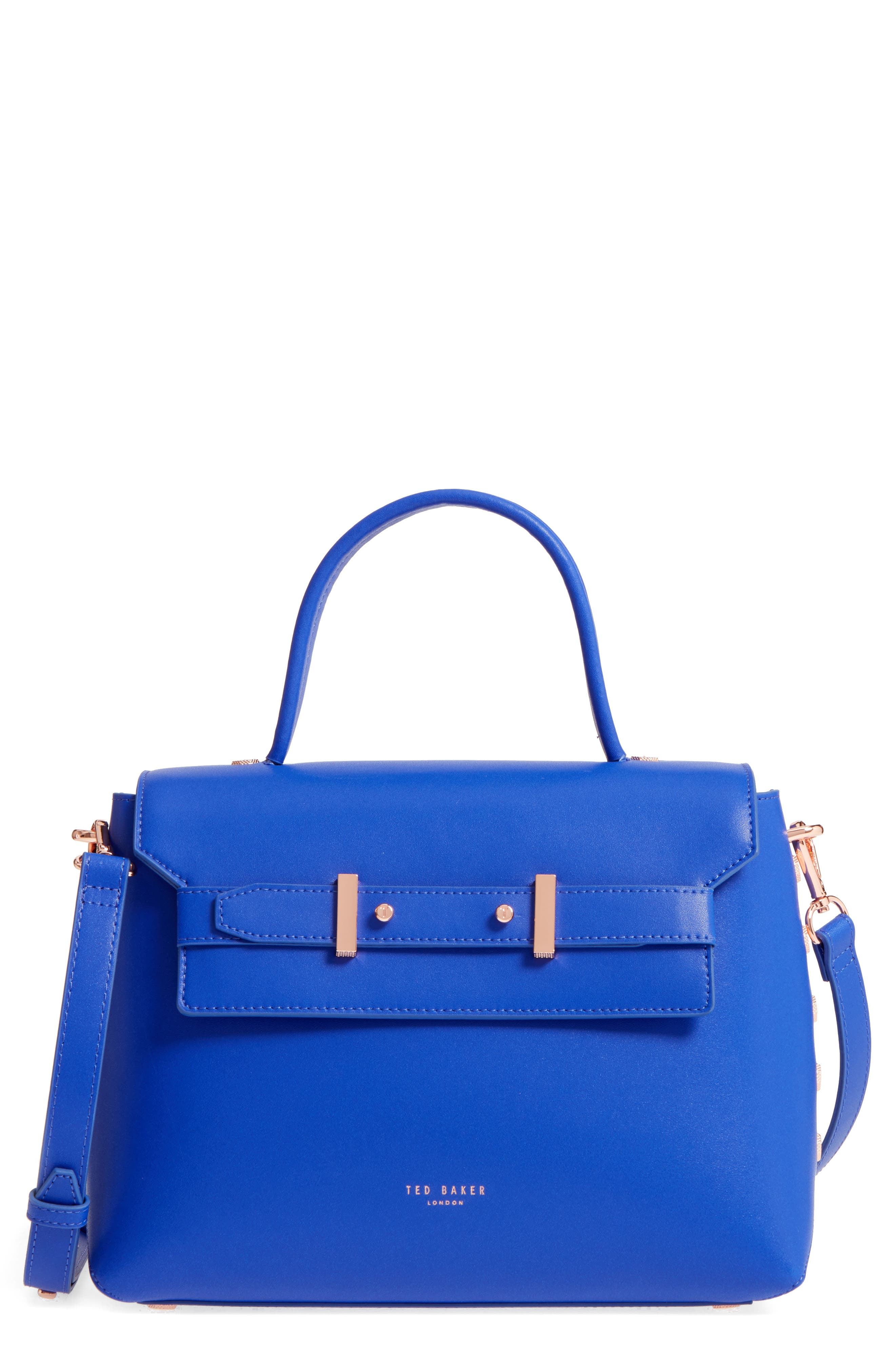 Main Image - Ted Baker London Taymar - Studded Edge Lady Bag Leather Top Handle Satchel