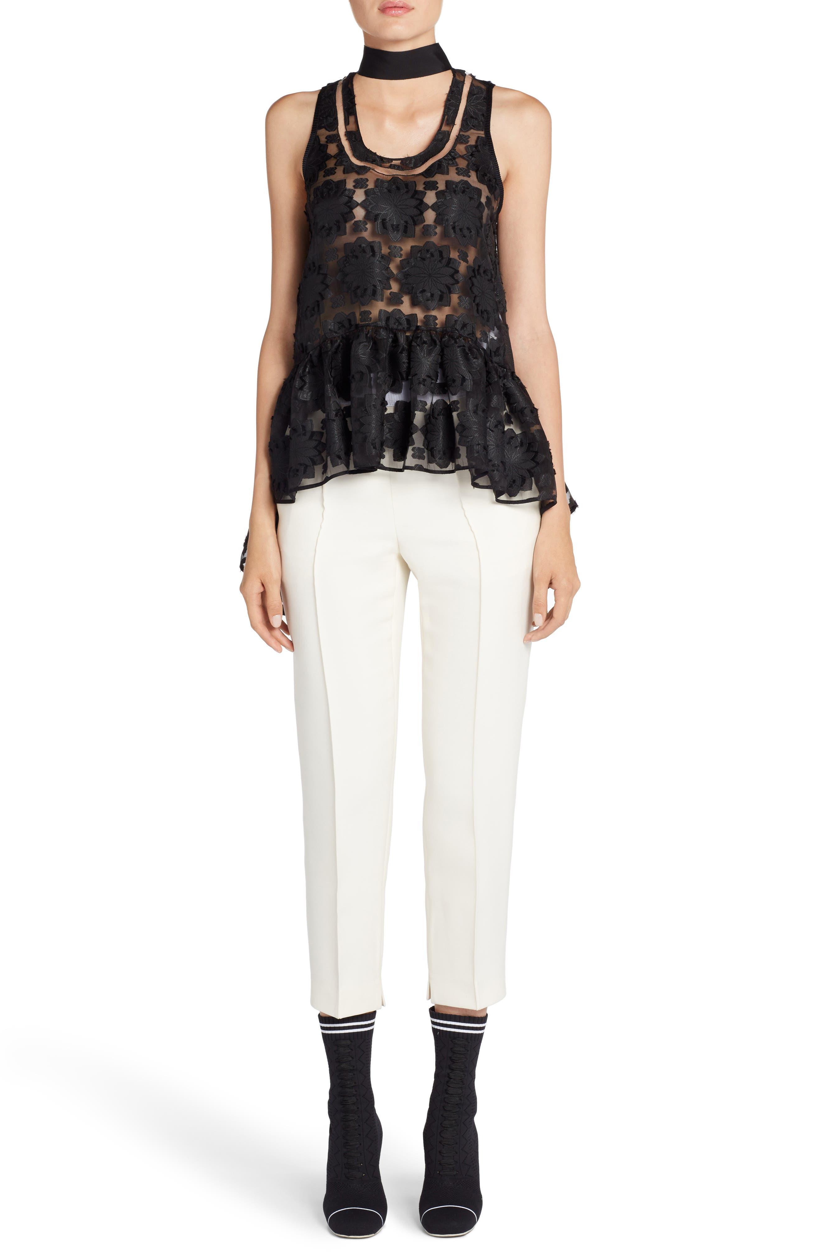 Alternate Image 7  - Fendi Wool & Silk Gazar Crop Pants