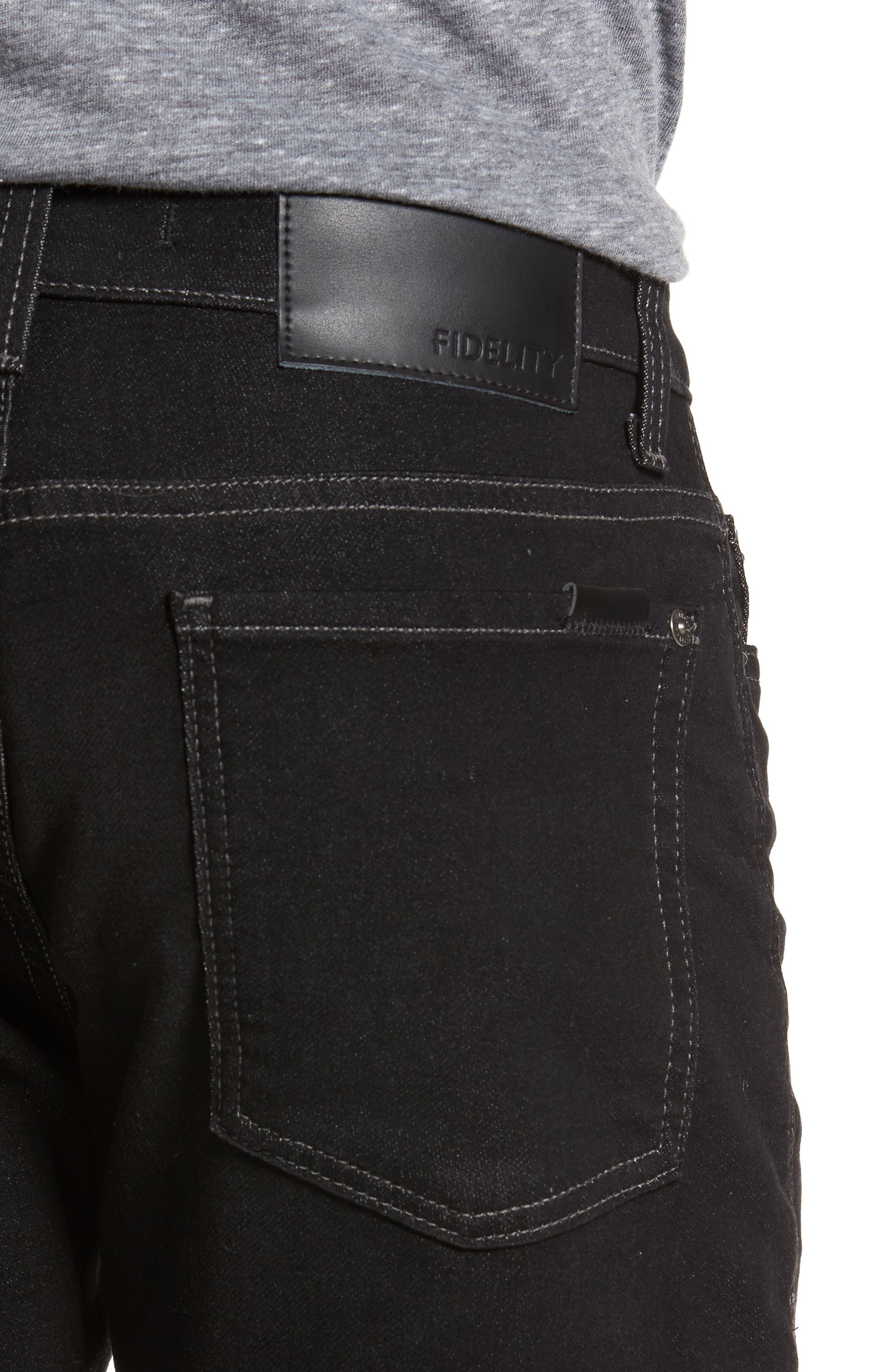 Torino Slim Fit Jeans,                             Alternate thumbnail 4, color,                             Oxy Black On Black