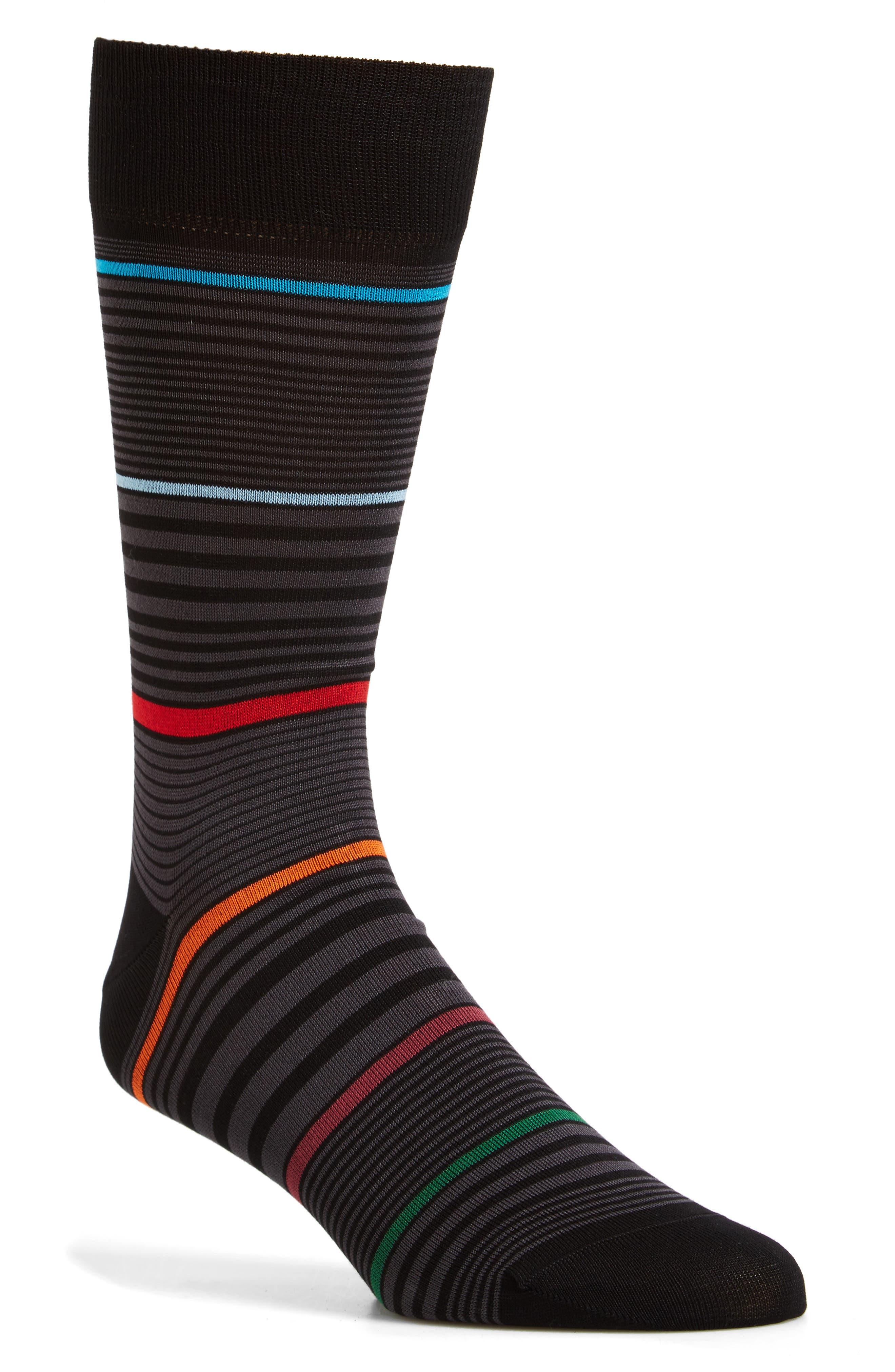 Bugatchi Stripe Crew Socks