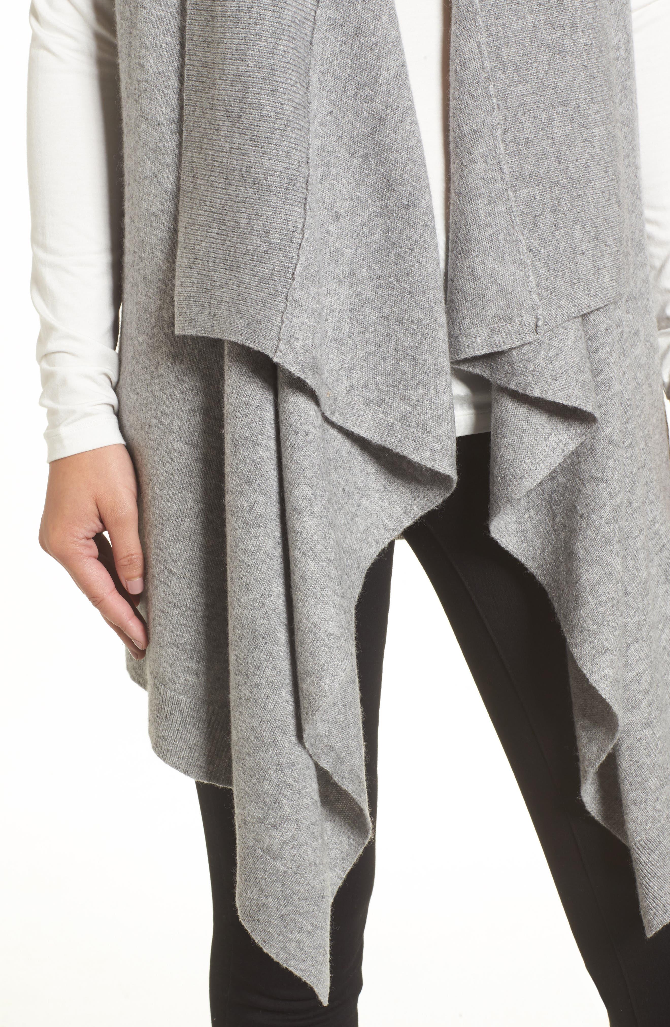 Alternate Image 4  - Halogen® Wool & Cashmere Drape Front Sweater Vest