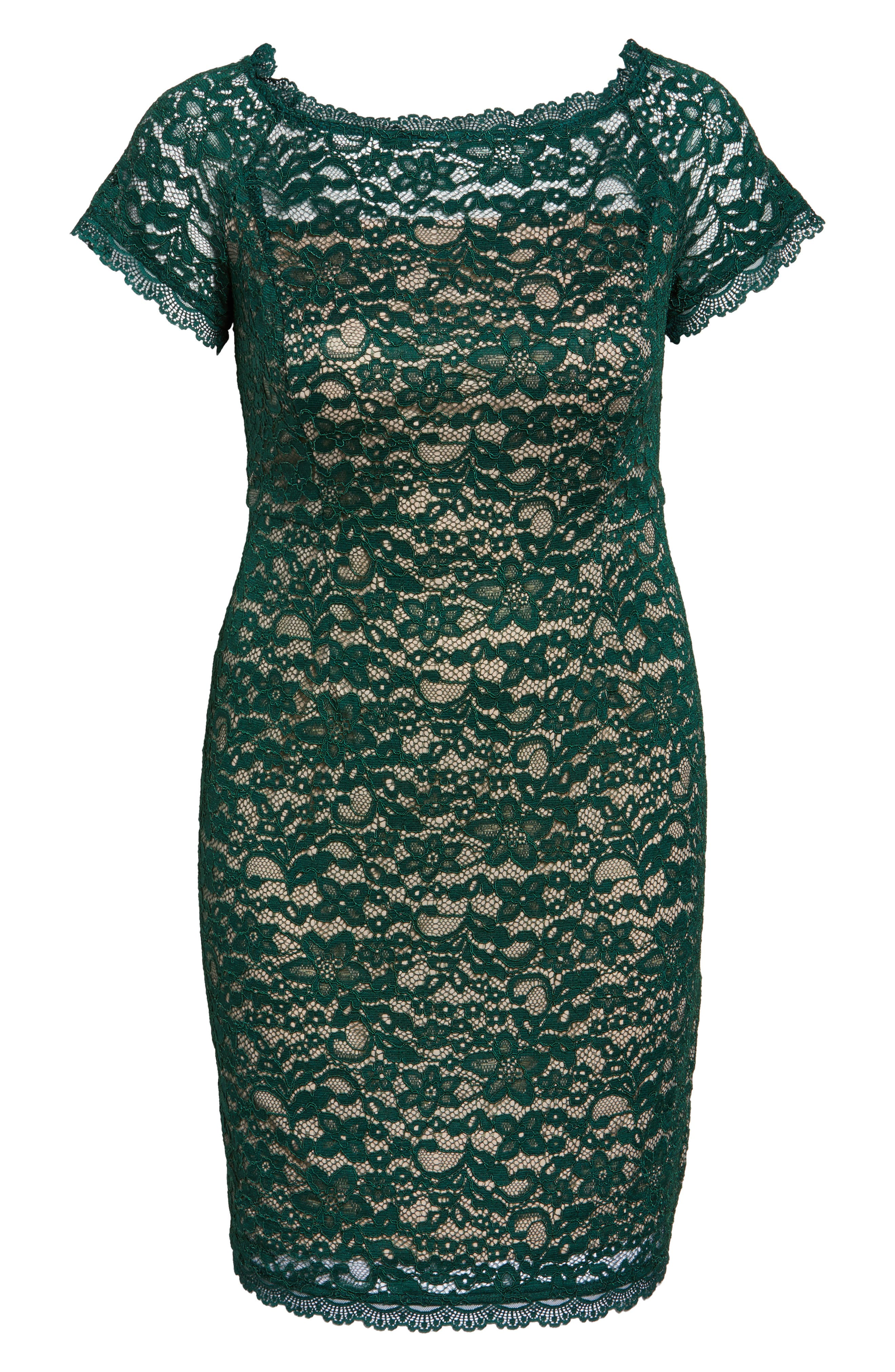 Alternate Image 6  - Adrianna Papell Off the Shoulder Lace Sheath Dress (Plus Size)