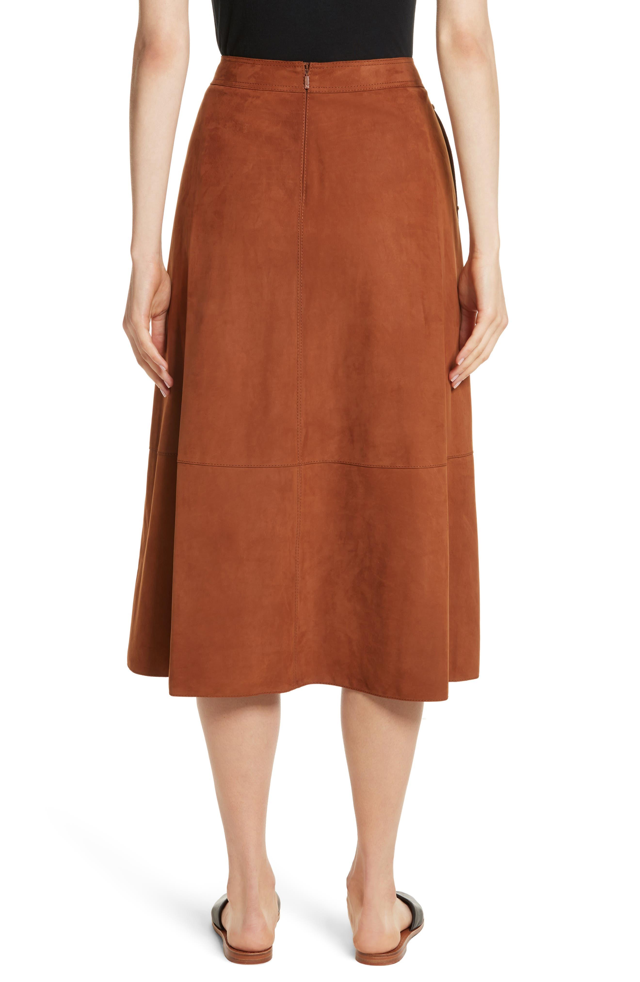 Alternate Image 2  - Lafayette 148 New York Rosella Leather Skirt