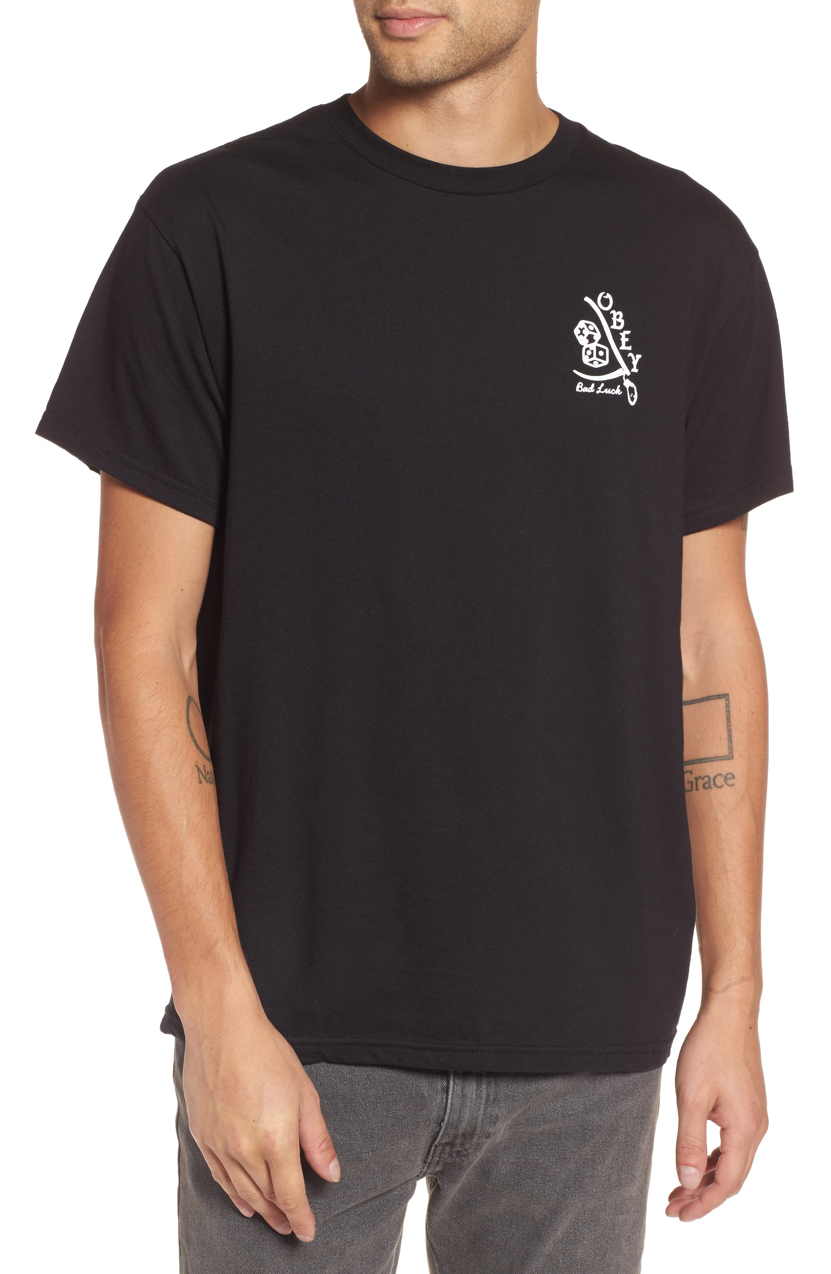 Bad Luck Graphic T-Shirt,                         Main,                         color, Black