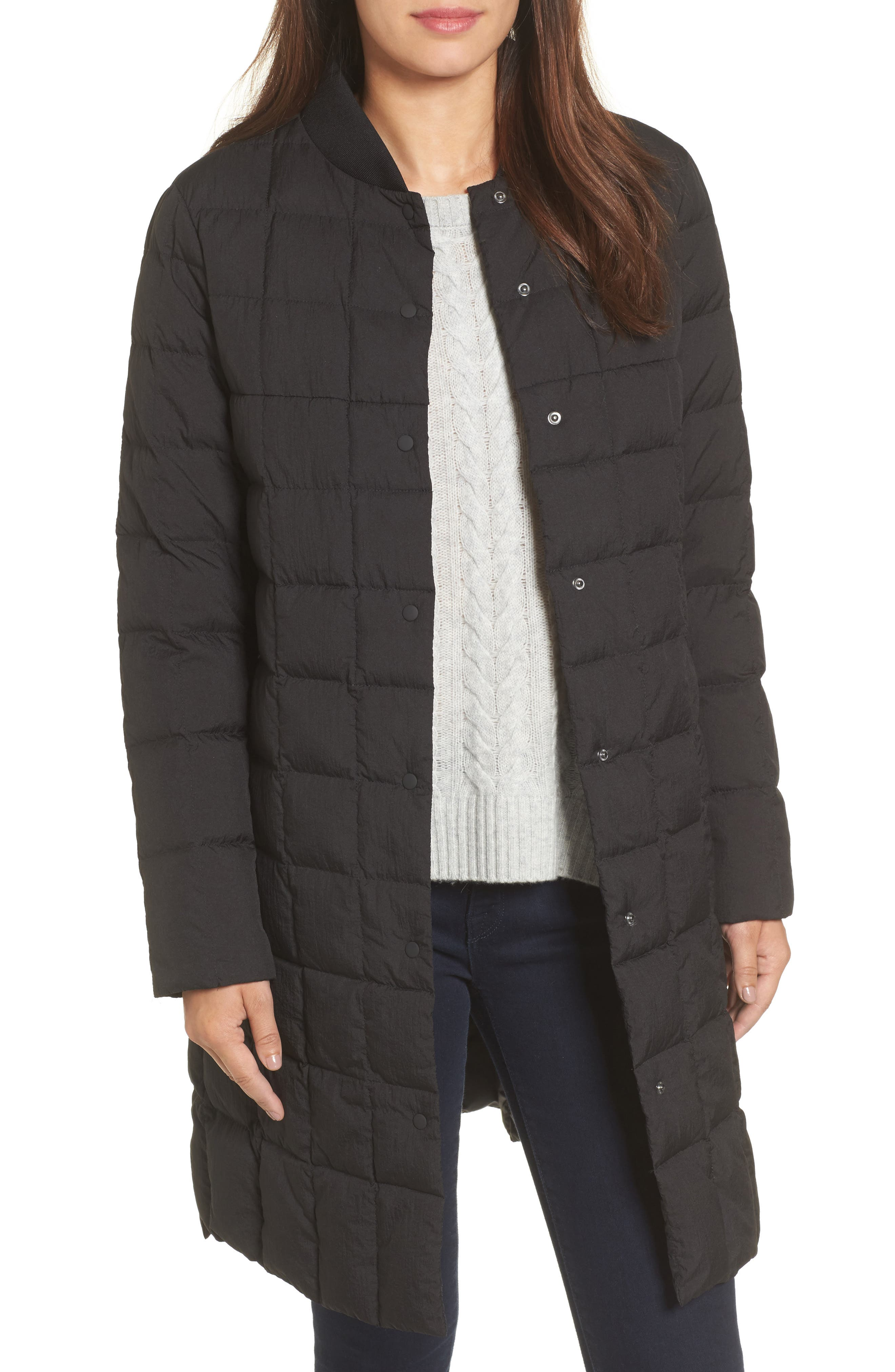 Kensley Lightweight Down Coat,                             Main thumbnail 1, color,                             Black