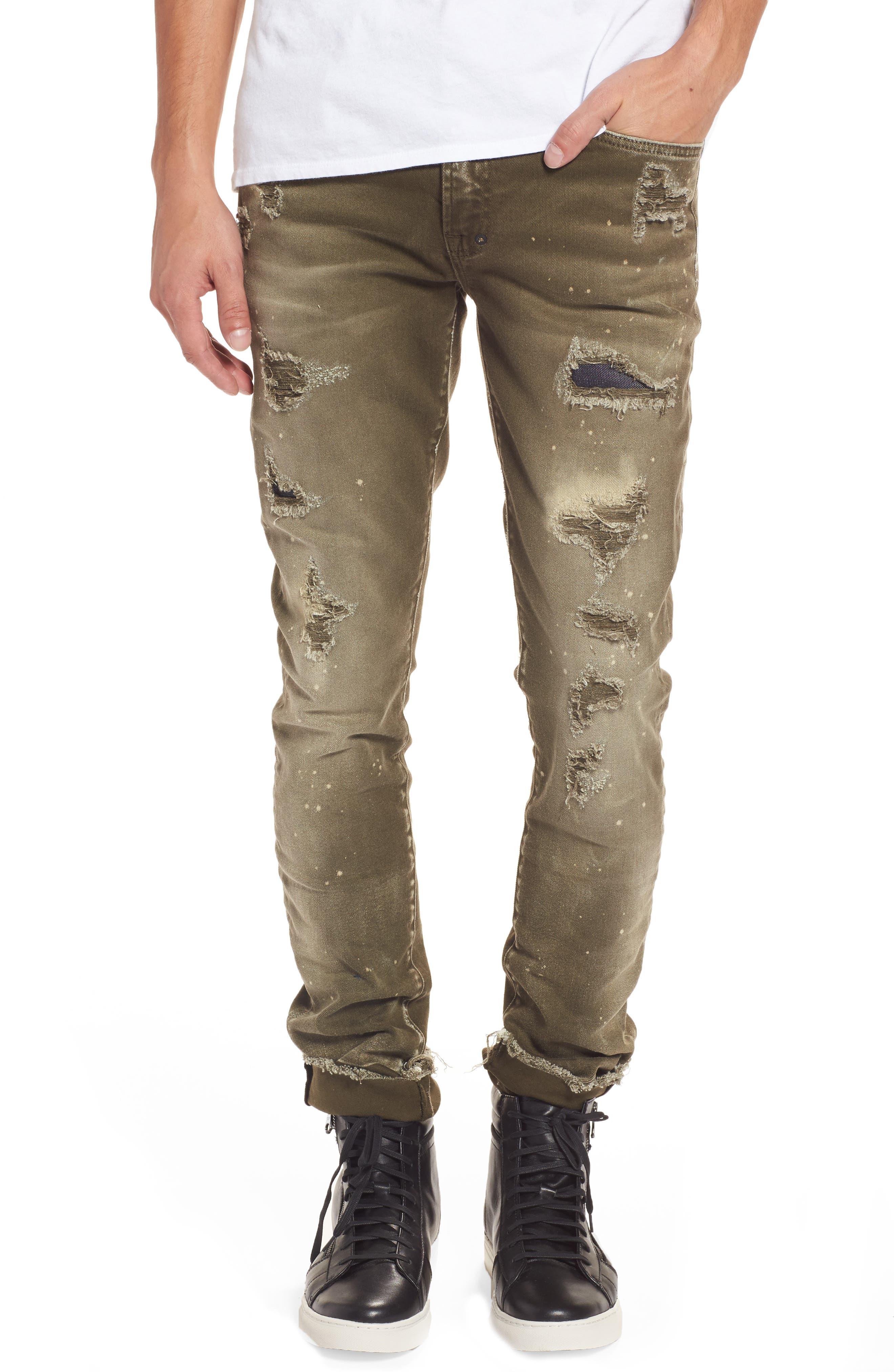 Demon Slim Straight Leg Jeans,                             Main thumbnail 1, color,                             Light