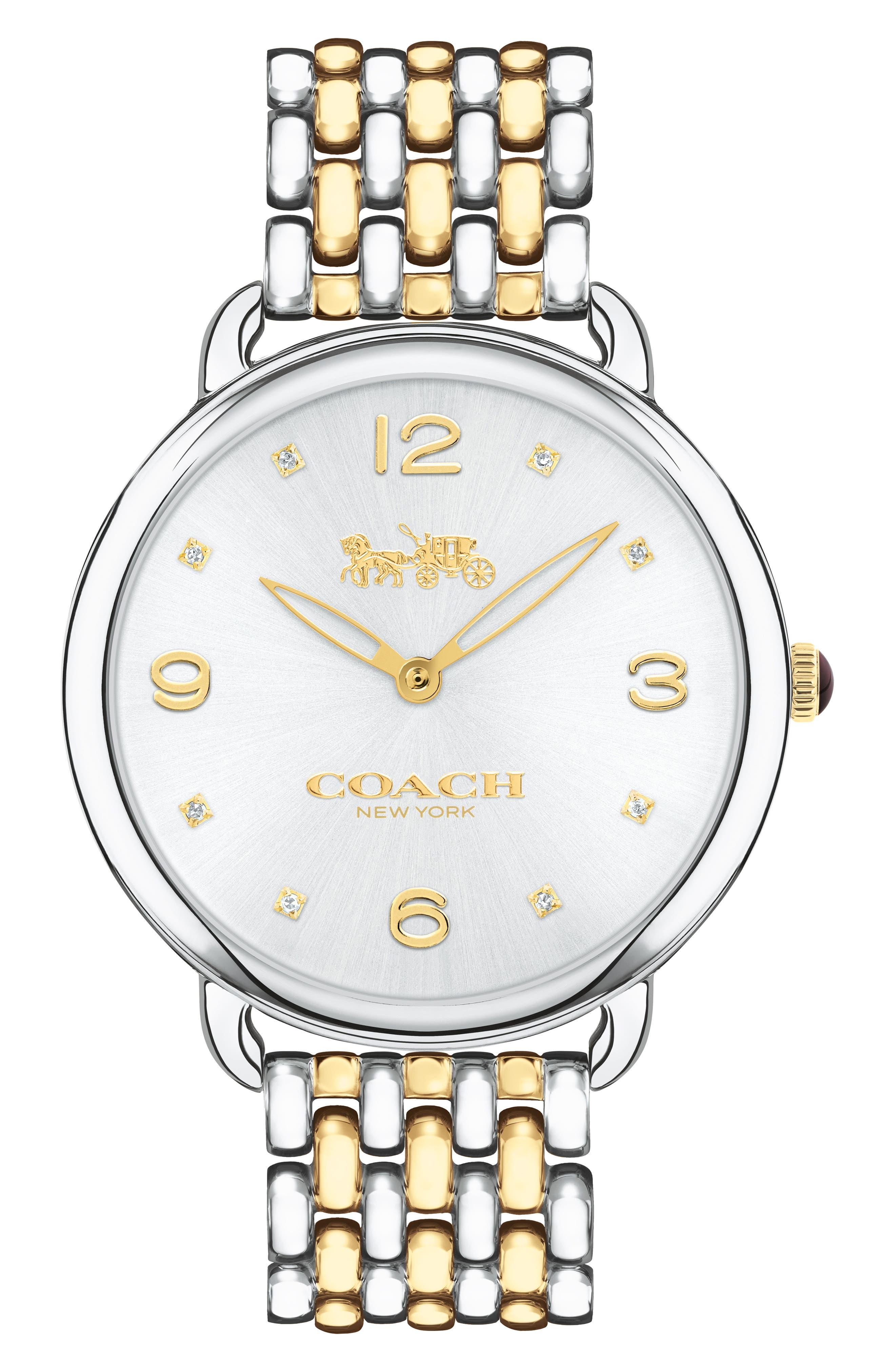 Alternate Image 1 Selected - COACH Delancey Slim Diamond Bracelet Watch, 37mm