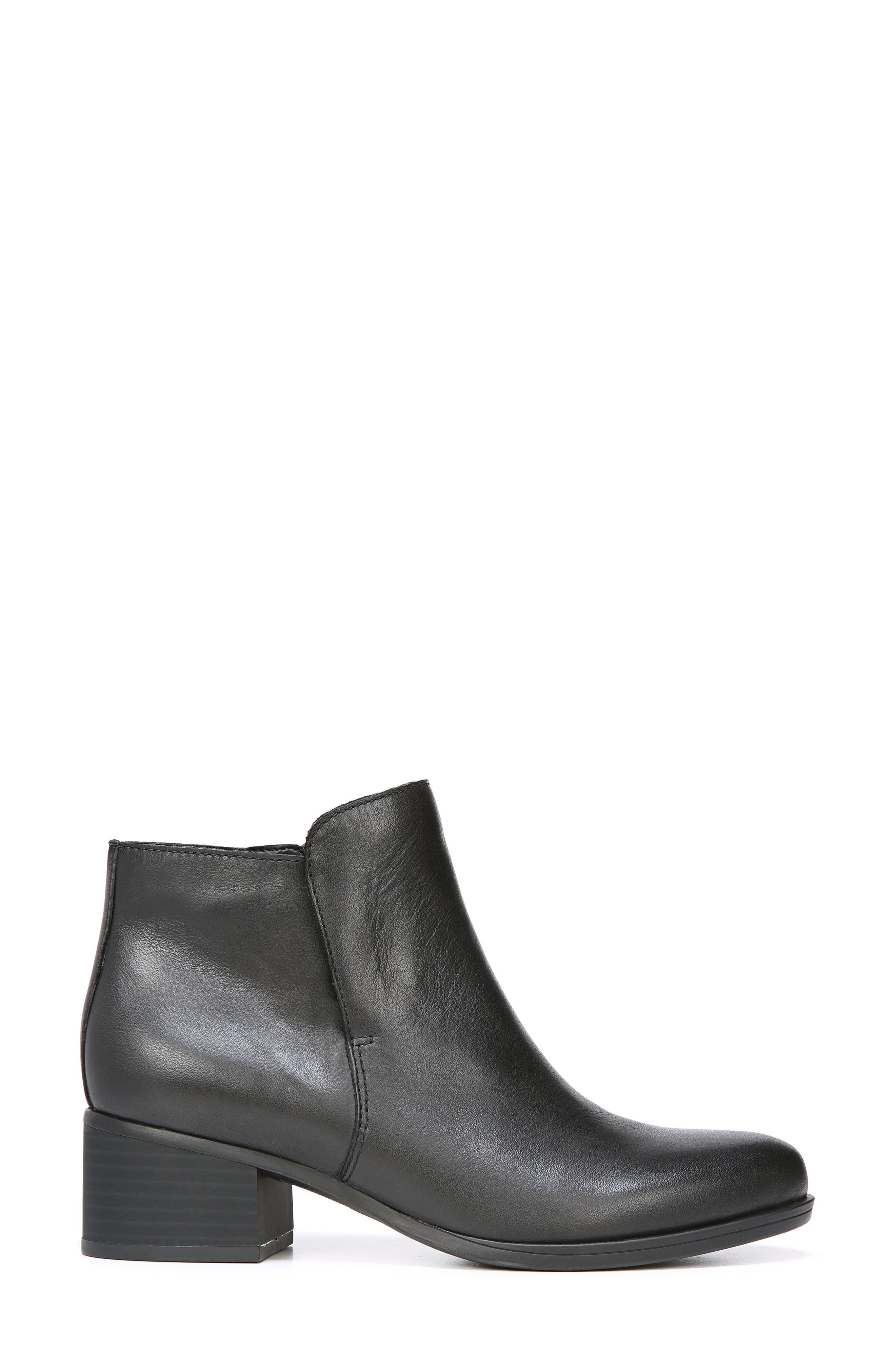 Dawson Waterproof Bootie,                             Alternate thumbnail 3, color,                             Black Leather