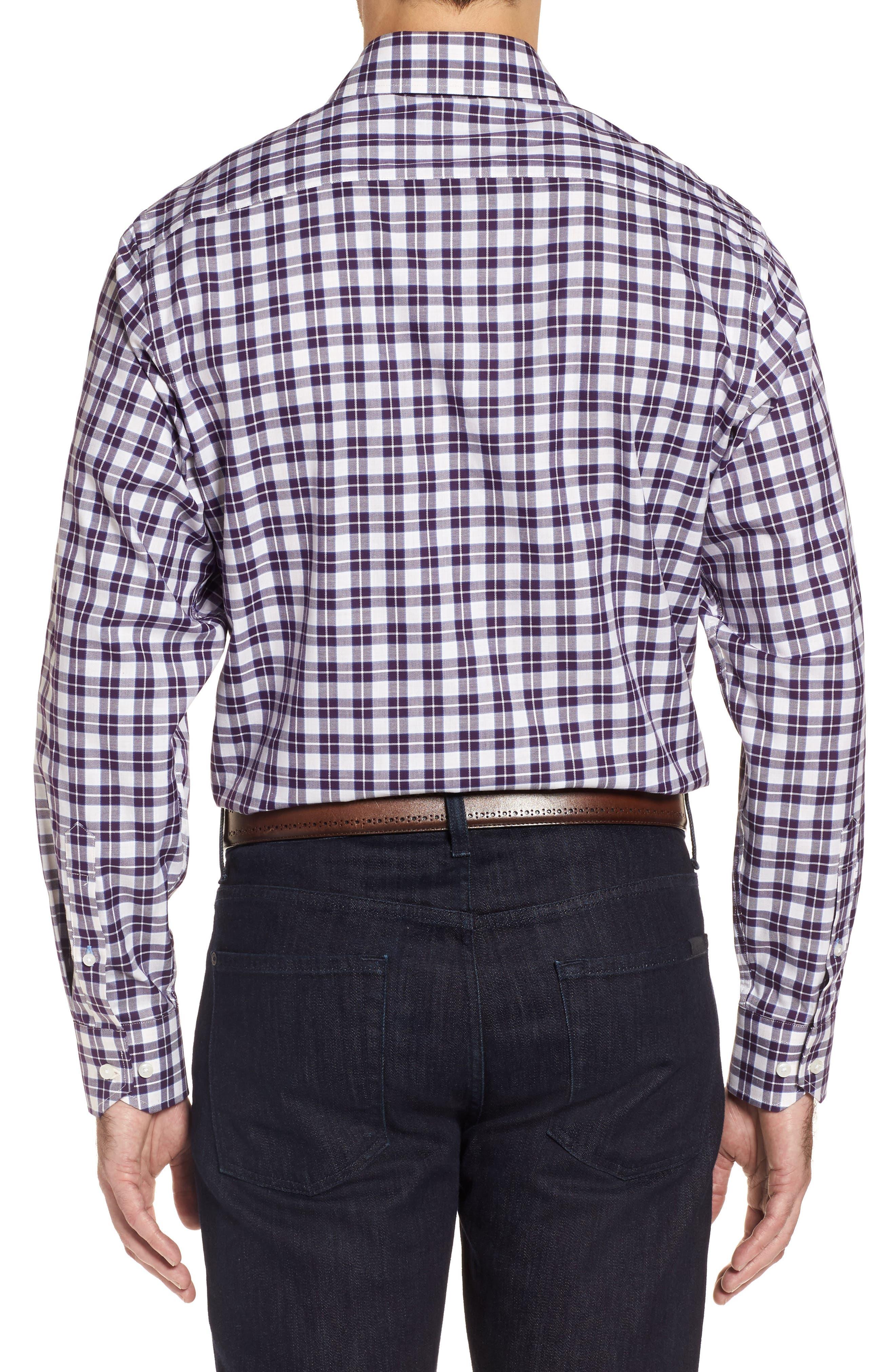 Cameron Regular Fit Plaid Sport Shirt,                             Alternate thumbnail 2, color,                             Purple