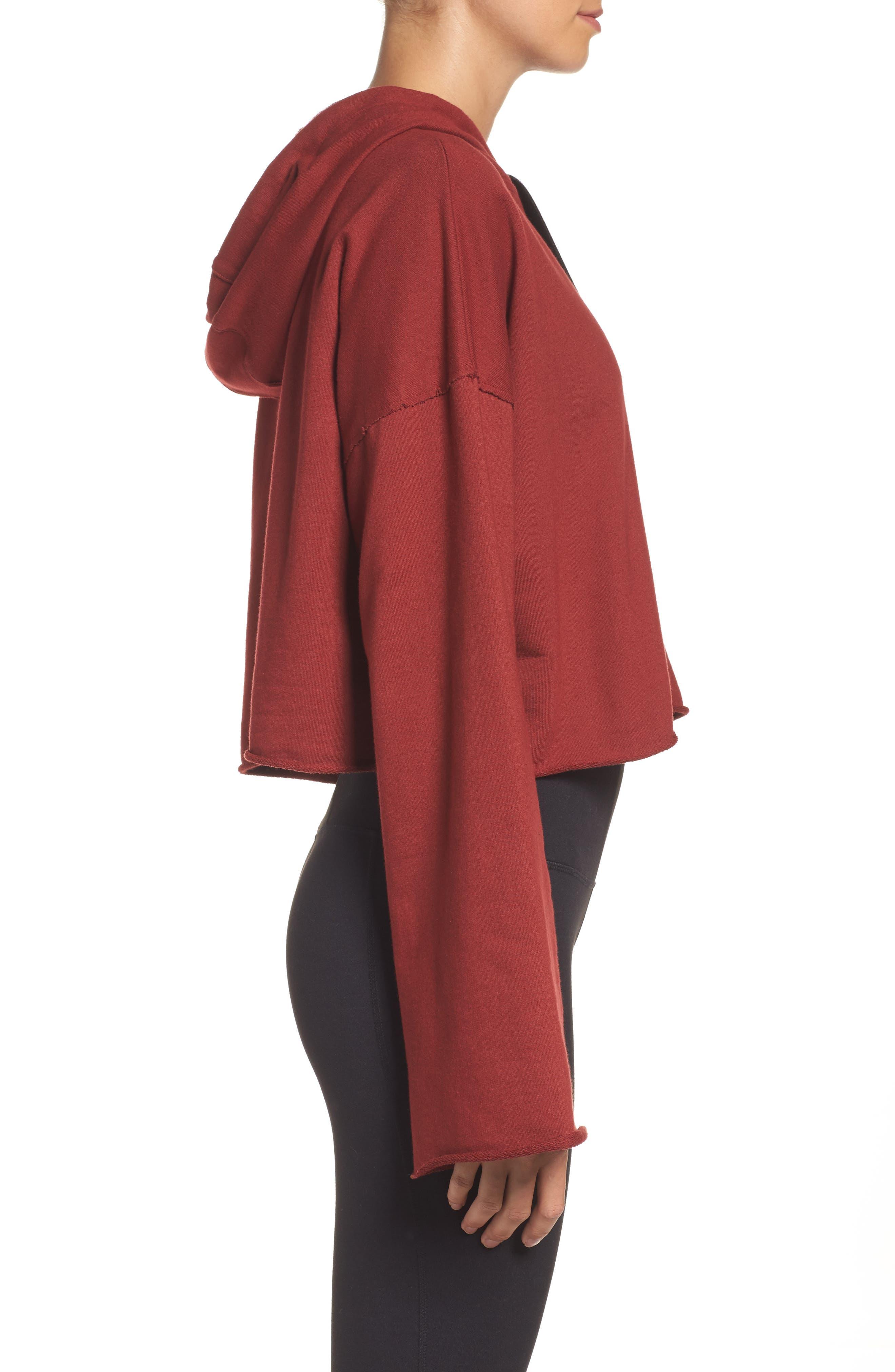 Alternate Image 3  - Alala Stance Bell Sleeve Crop Hoodie