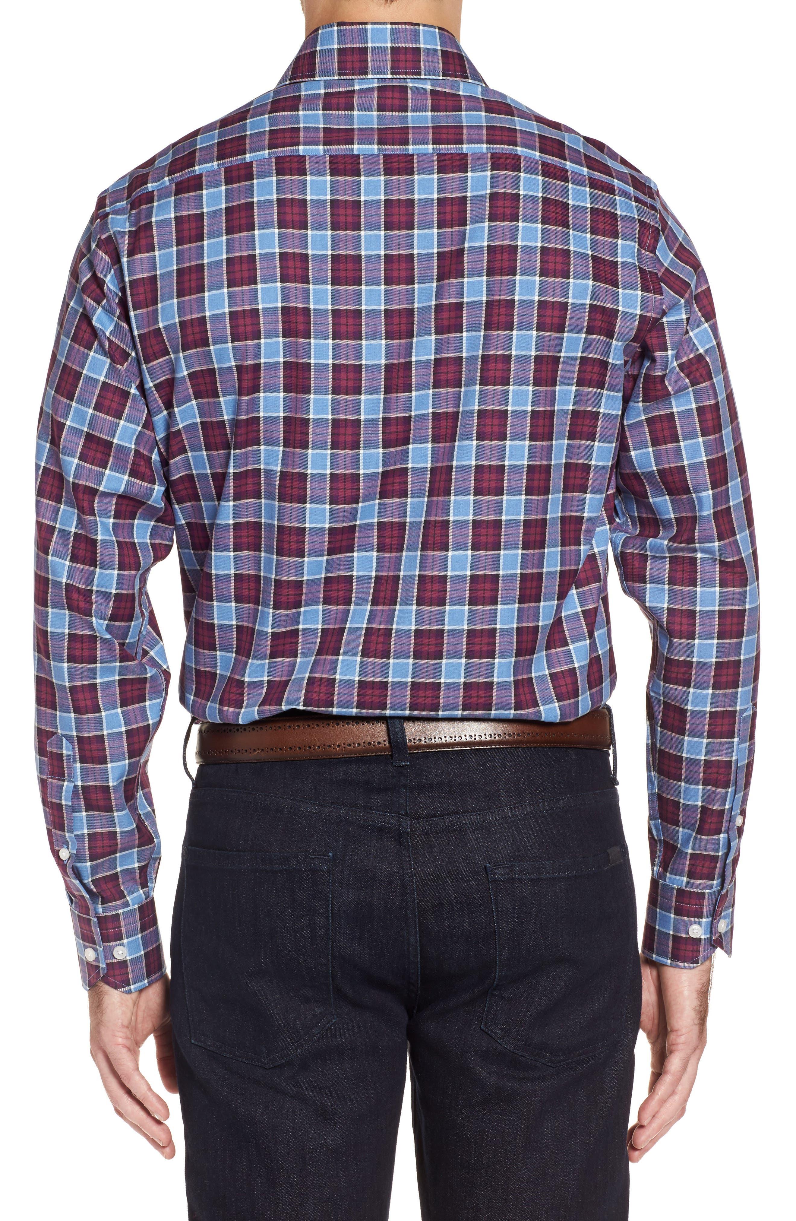 Campti Regular Fit Plaid Sport Shirt,                             Alternate thumbnail 2, color,                             Purple