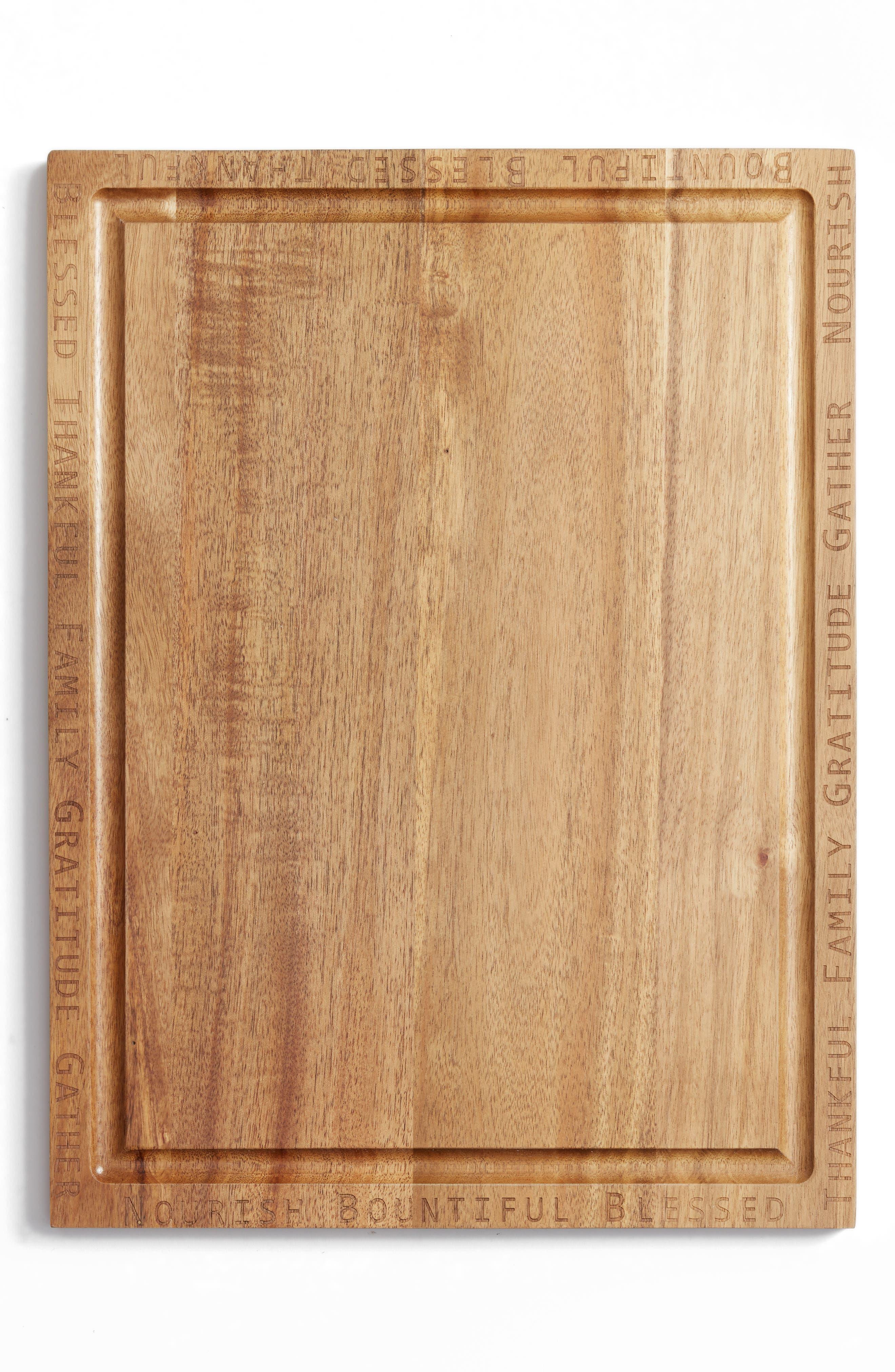 Acacia Wood Cutting Board,                             Main thumbnail 1, color,                             Brown Multi