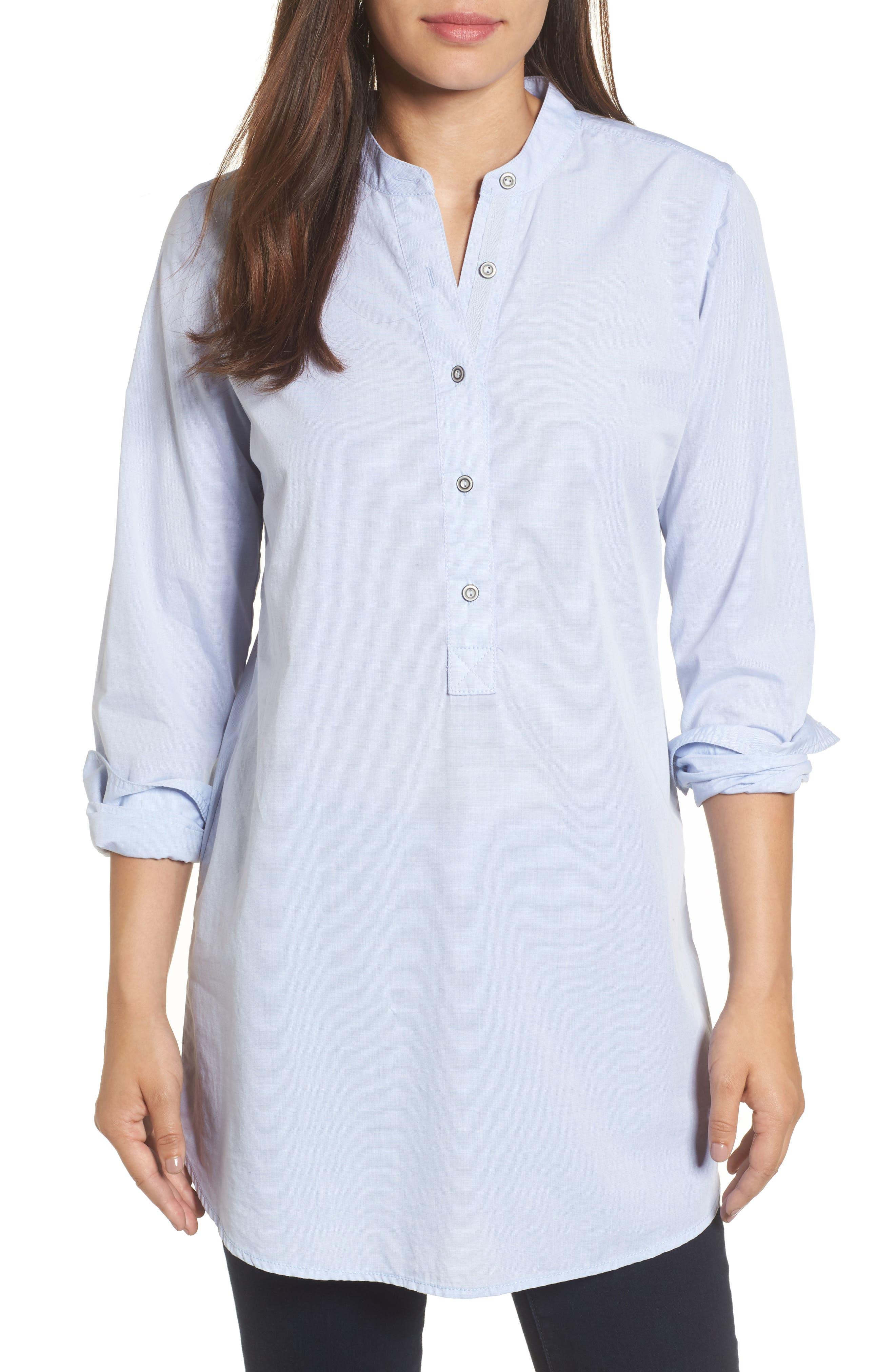 Caslon® Popover Tunic Shirt (Regular & Petite)