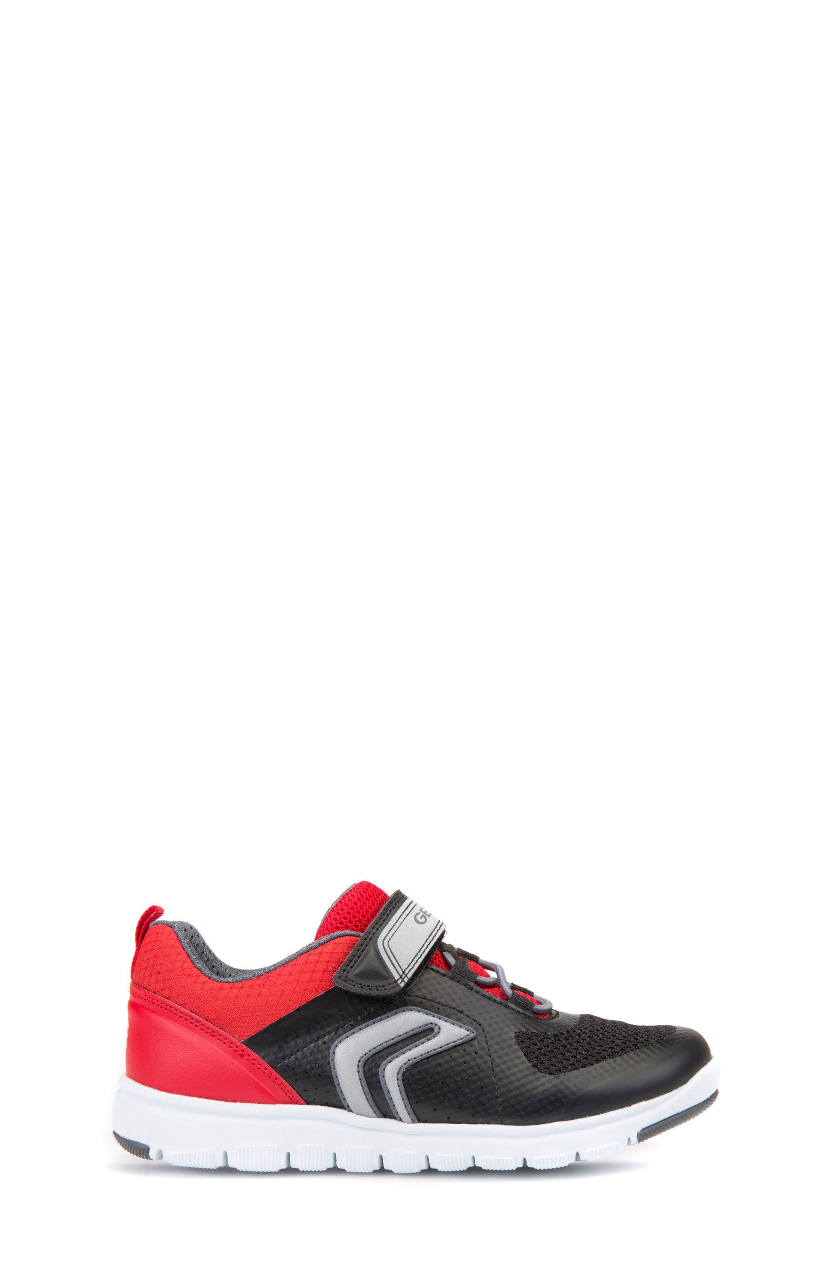 Xunday Low Top Sneaker,                             Alternate thumbnail 3, color,                             Black/ Red