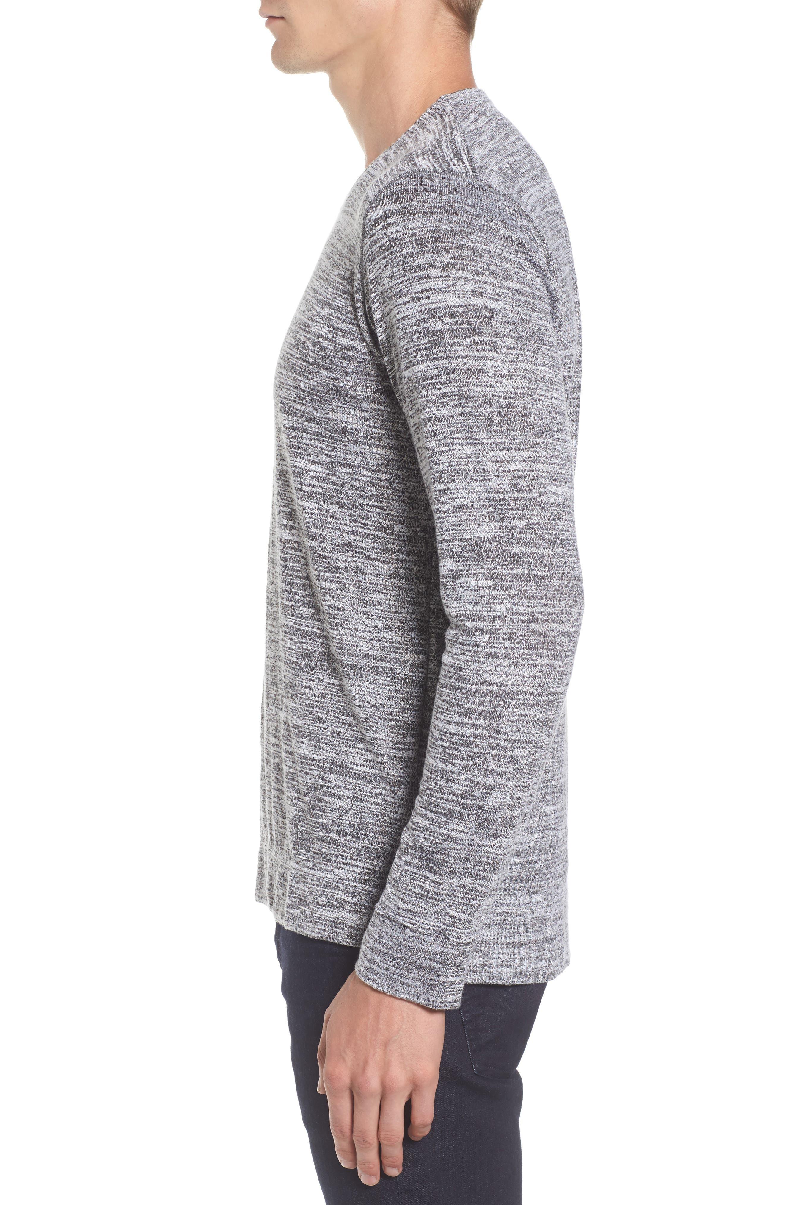 Alternate Image 3  - Velvet by Graham & Spencer Modern Trim Marled Long Sleeve T-Shirt