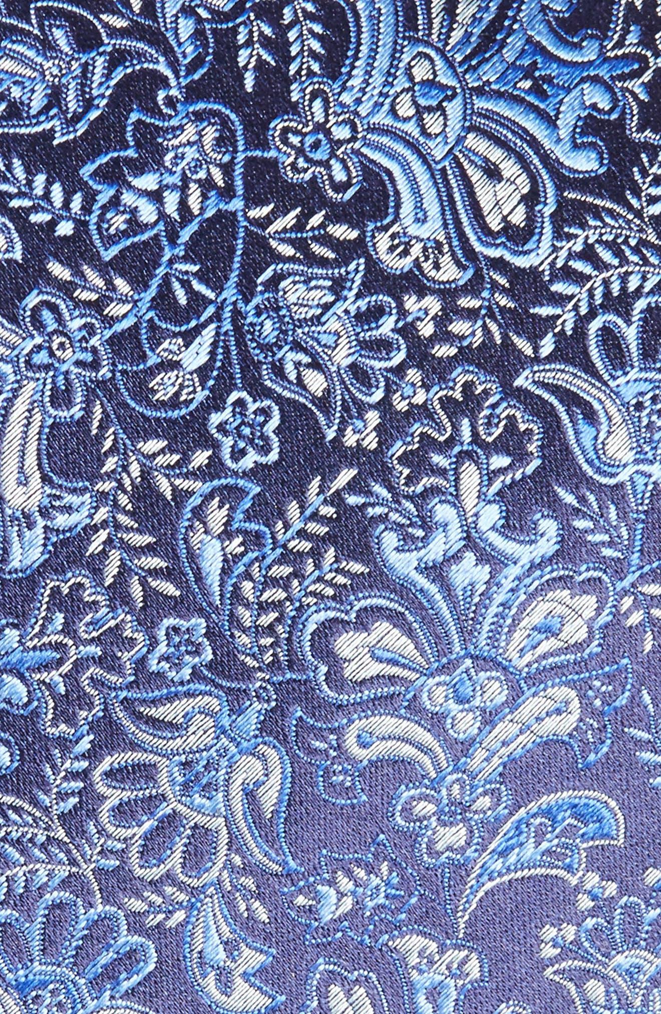 Paisley Silk Tie,                             Alternate thumbnail 2, color,                             Dark Blue