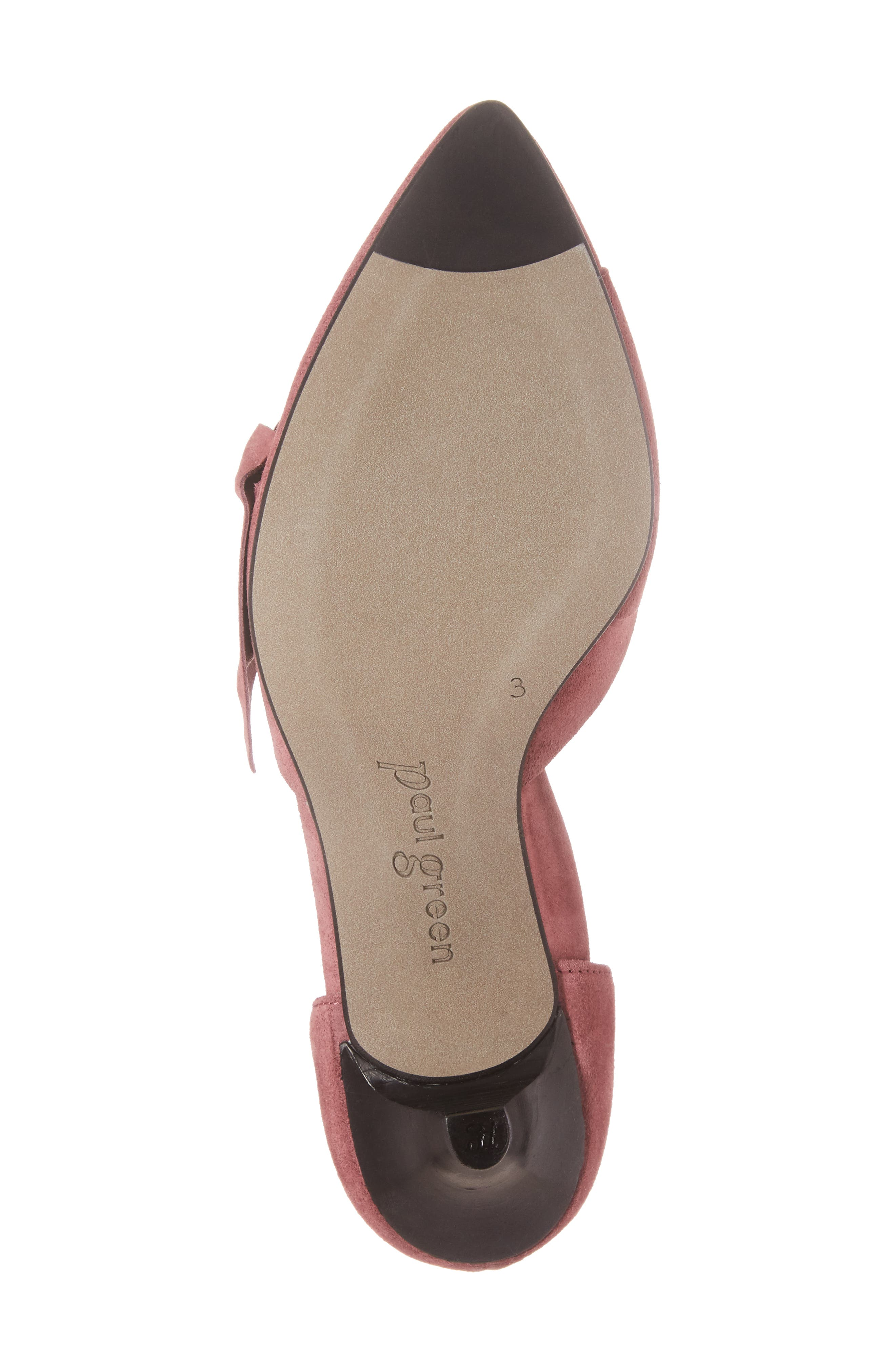 Nuriah d'Orsay Pump,                             Alternate thumbnail 5, color,                             Old Rose Suede