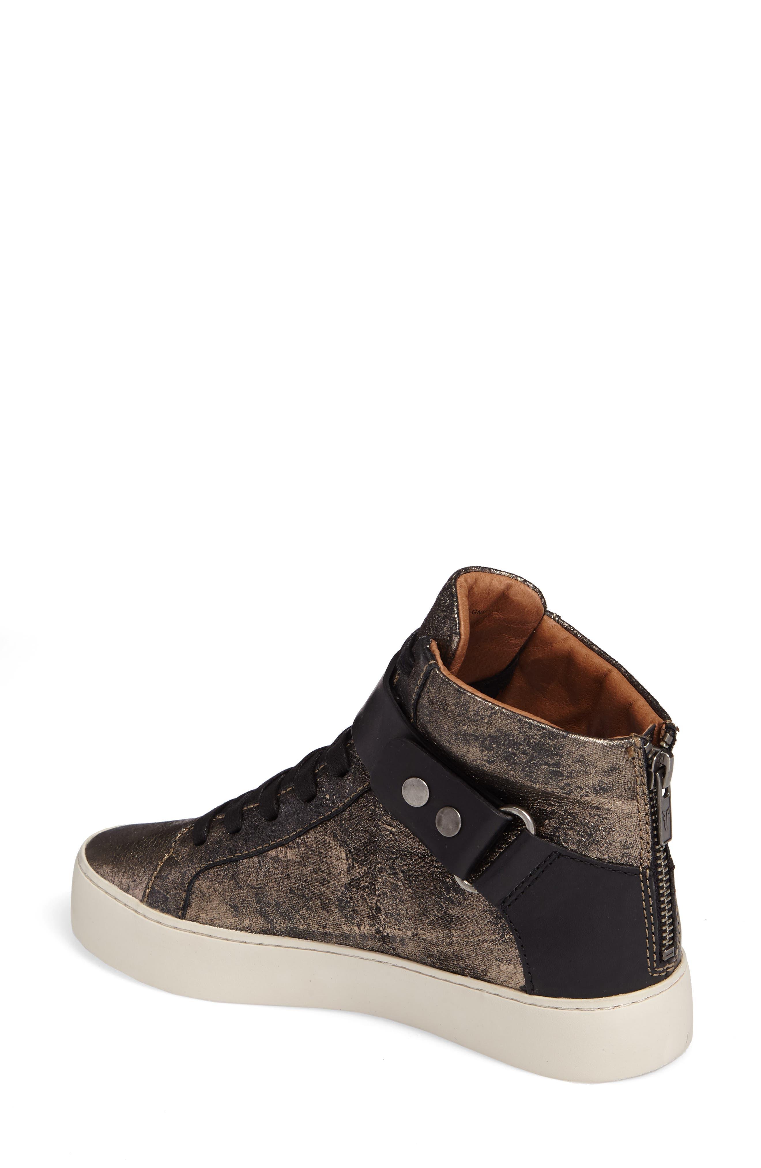 Lena Harness High Top Sneaker,                             Alternate thumbnail 2, color,                             Gunmetal
