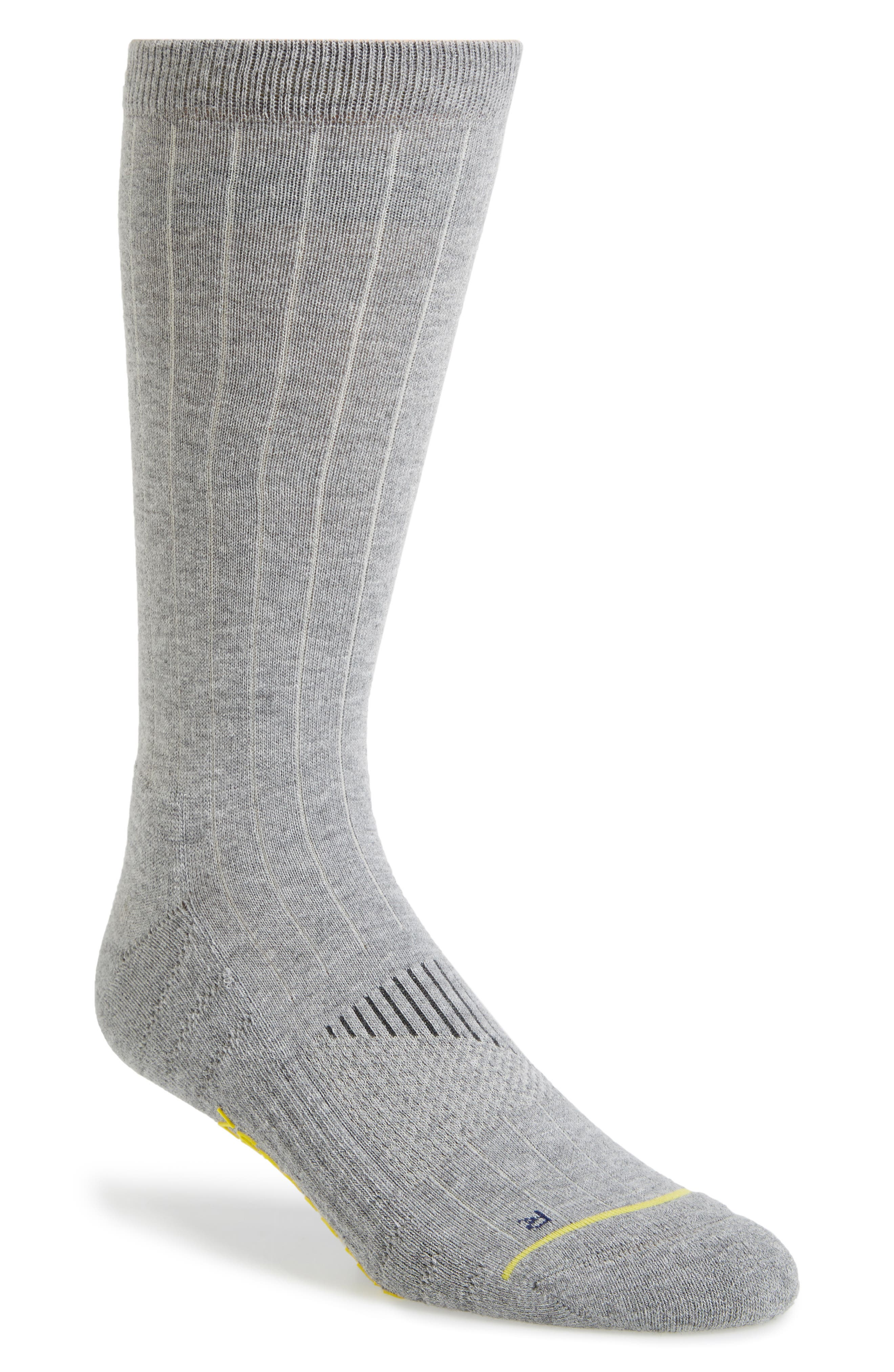 ZeroGrand Ribbed Crew Socks,                         Main,                         color, Grey Heather