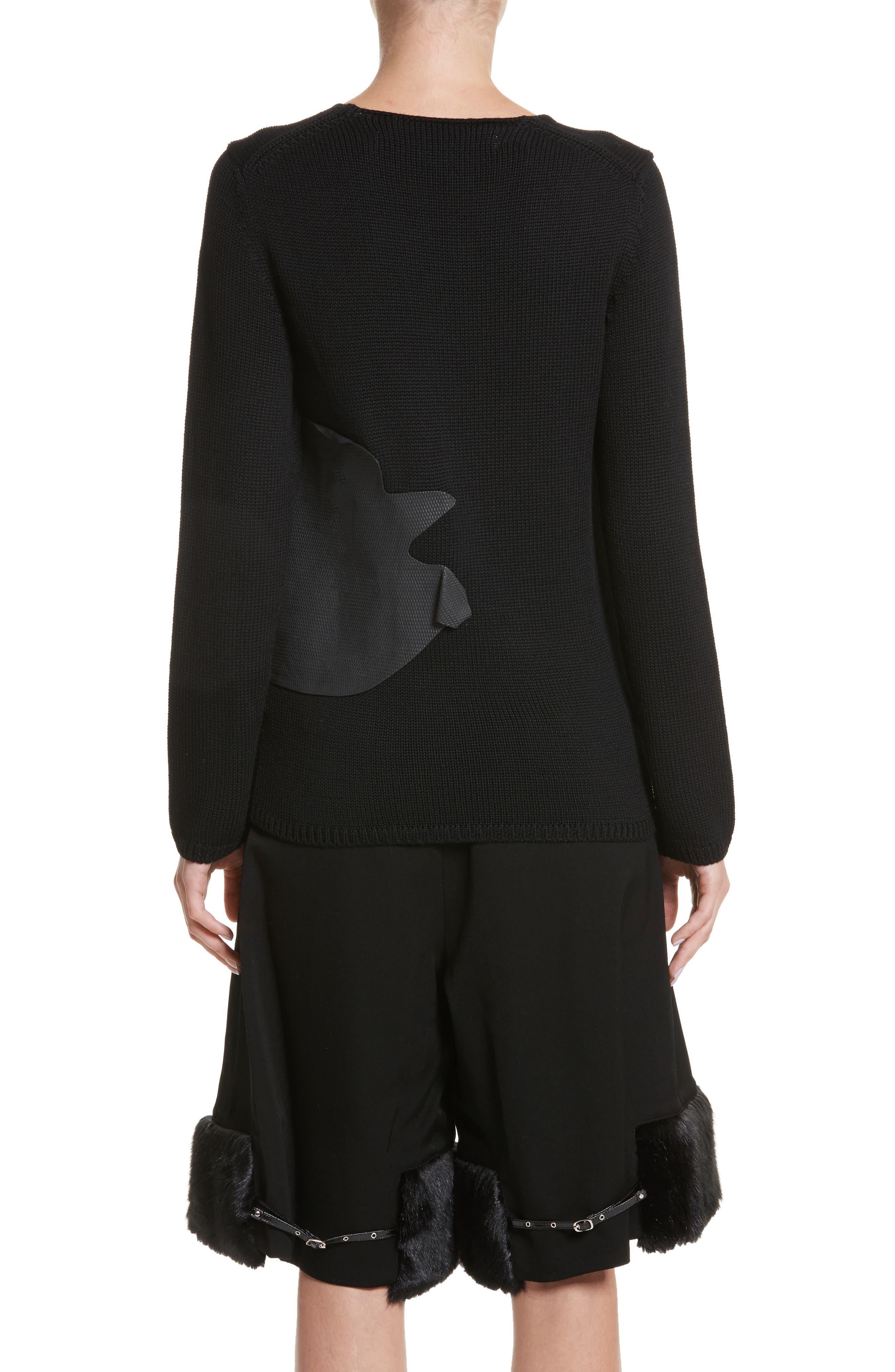 Alternate Image 2  - Comme des Garçons Rubber Detail Wool Sweater