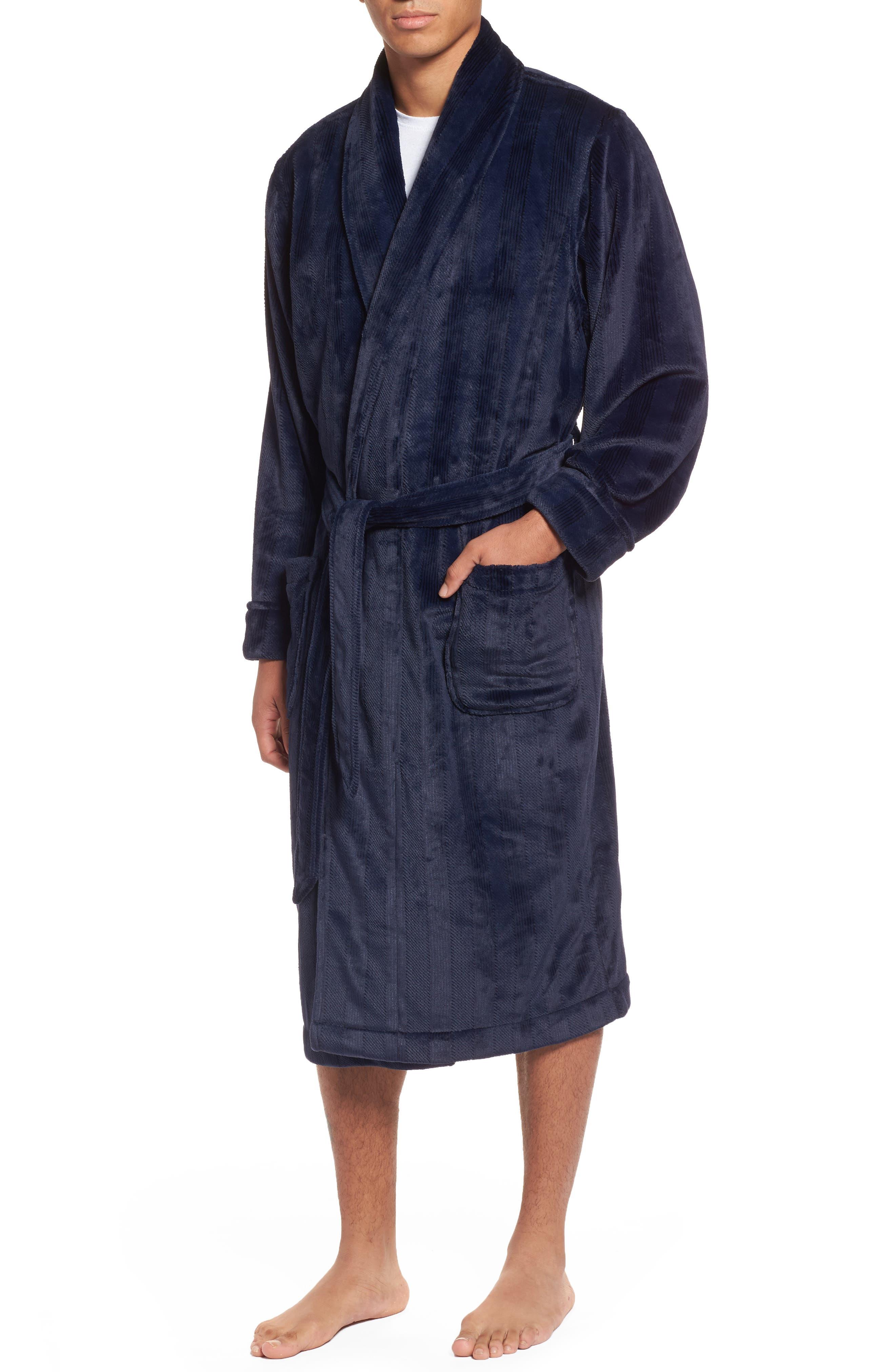 Nordstrom Men's Shop Embossed Textured Fleece Robe