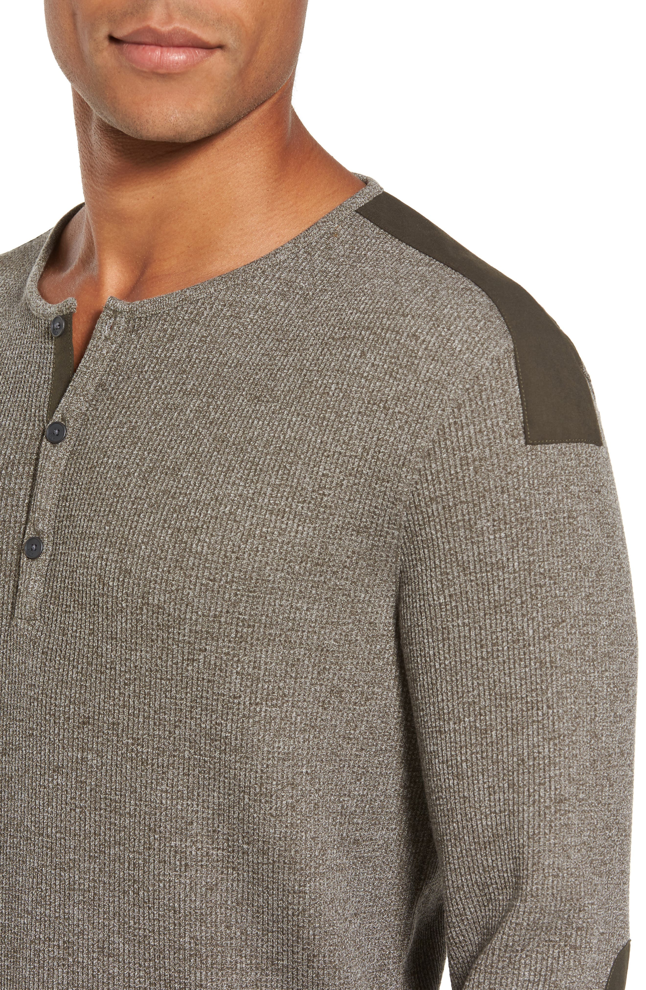 Alternate Image 4  - John Varvatos Star USA Woven Trim Henley