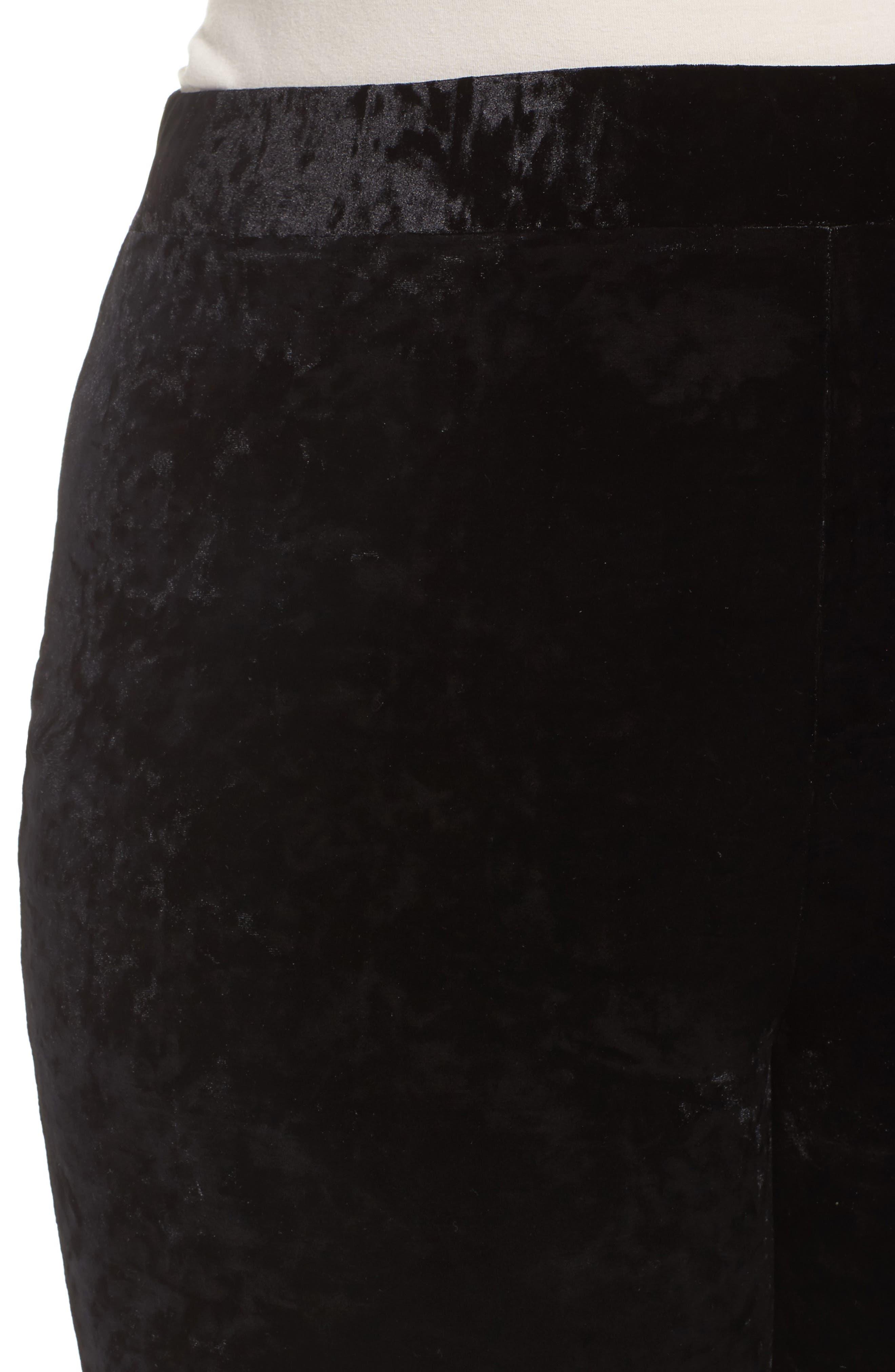 Alternate Image 4  - Vince Camuto Crushed Velvet Knit Leggings (Plus Size)
