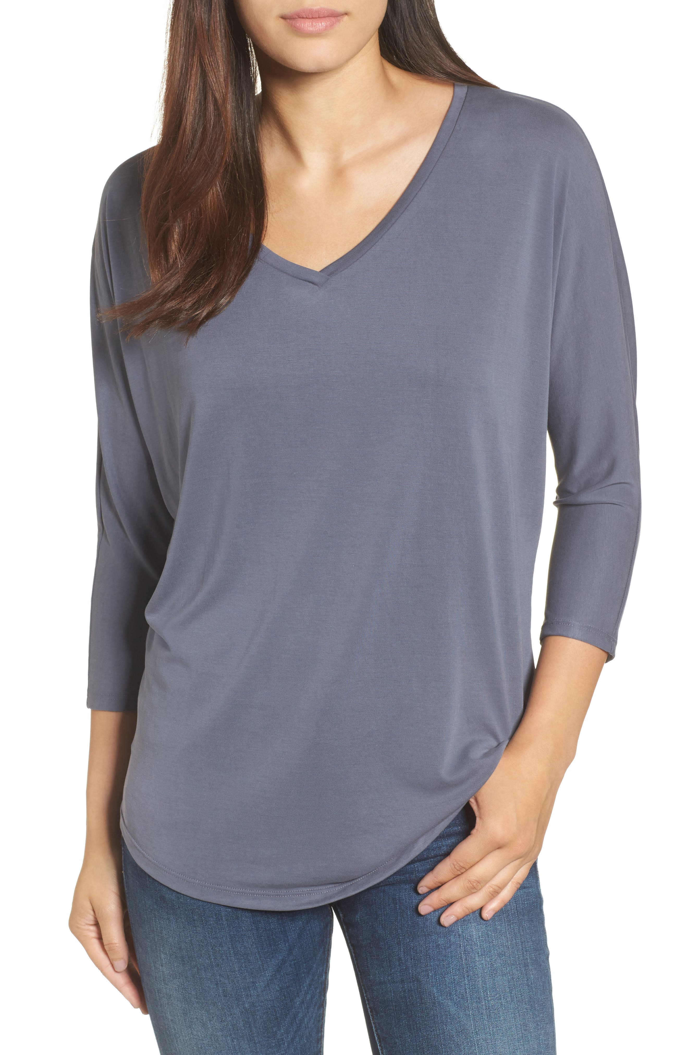 Halogen Relaxed V-Neck Top