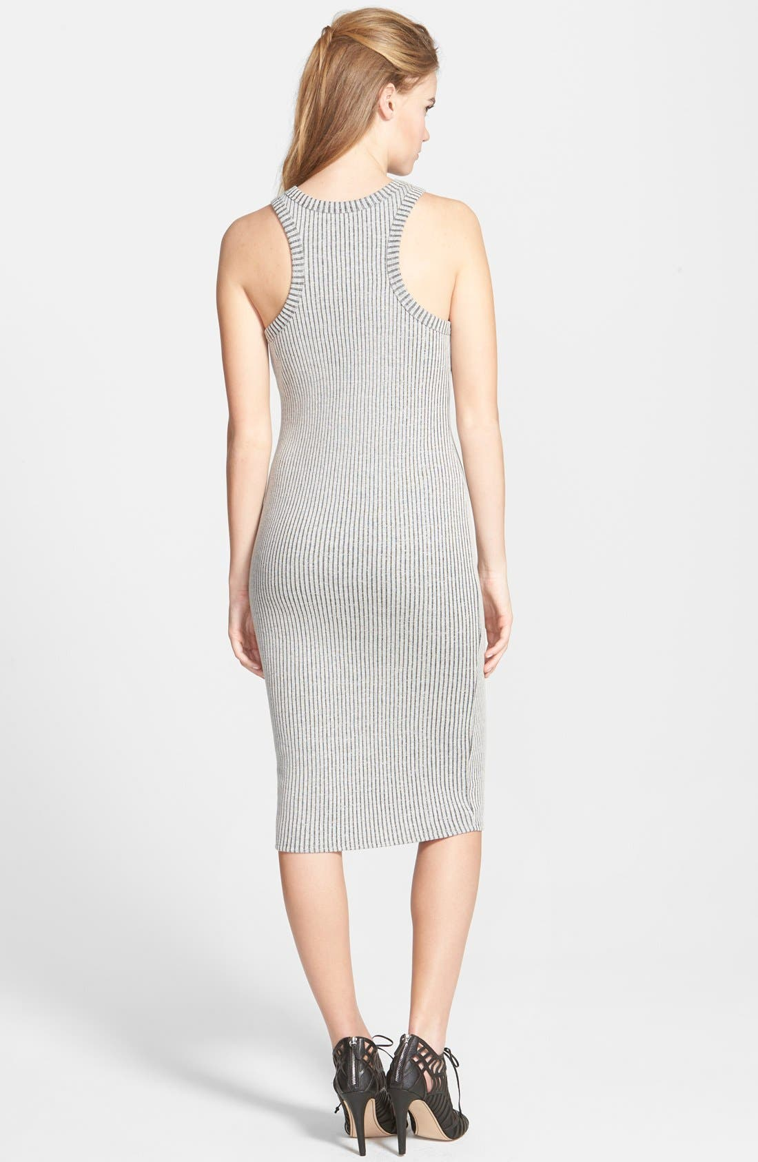 Alternate Image 2  - One Clothing Rib Knit Body-Con Midi Dress (Juniors)