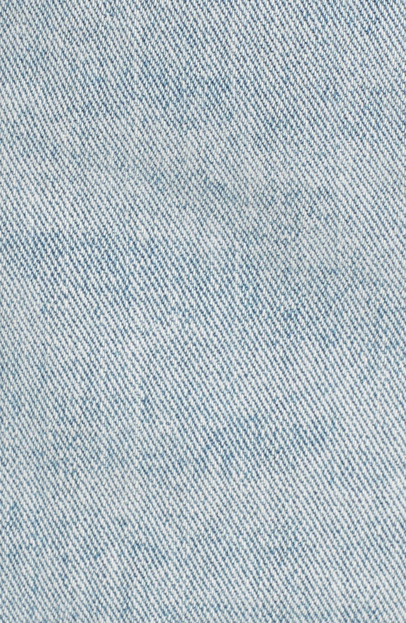 Denim Shorts,                             Alternate thumbnail 5, color,                             Sea Wash