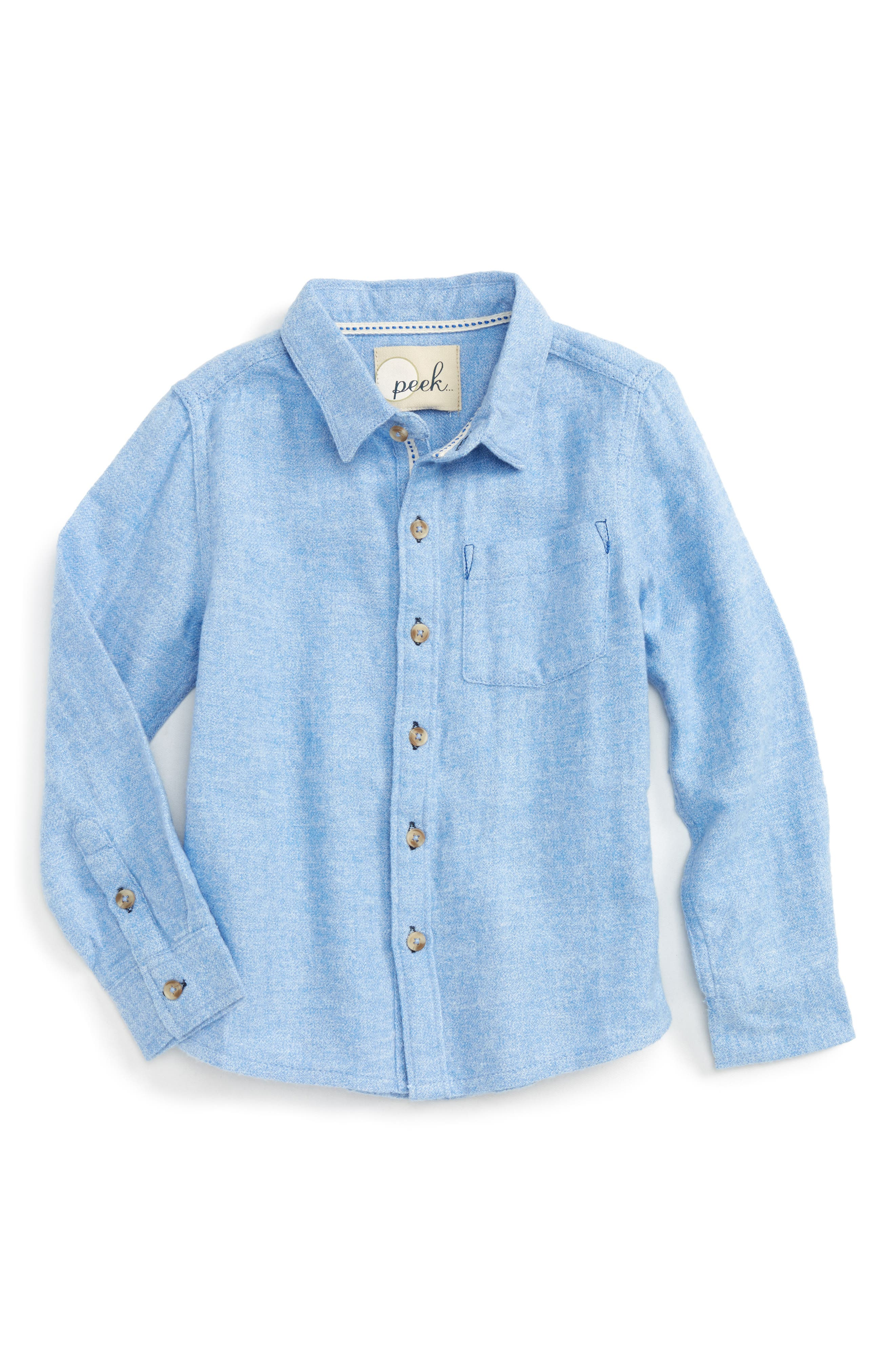 Peek James Woven Flannel Shirt (Toddler Boys, Little Boys & Big Boys)