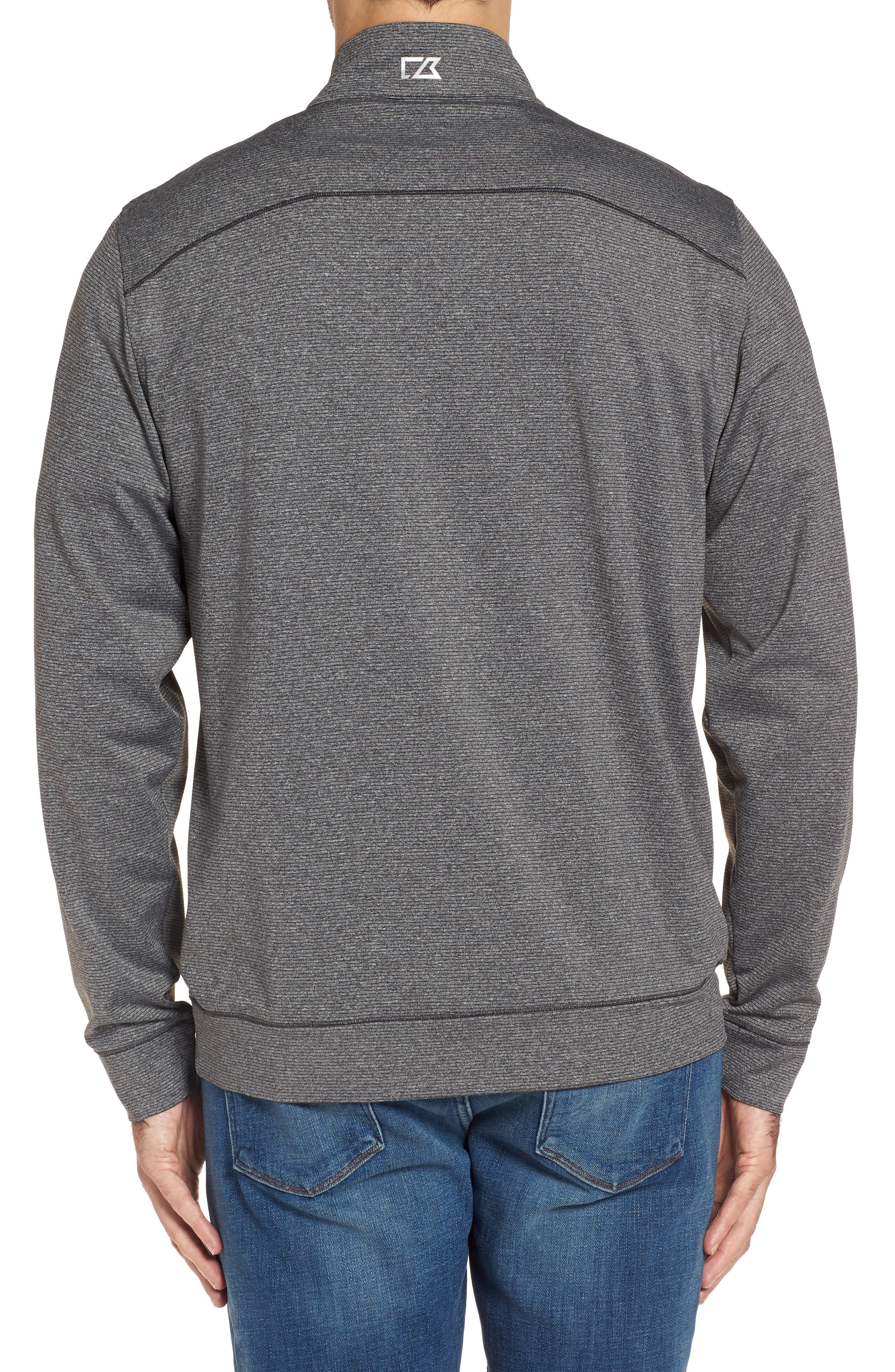 Shoreline - Philadelphia Eagles Half Zip Pullover,                             Alternate thumbnail 2, color,                             Charcoal Heather