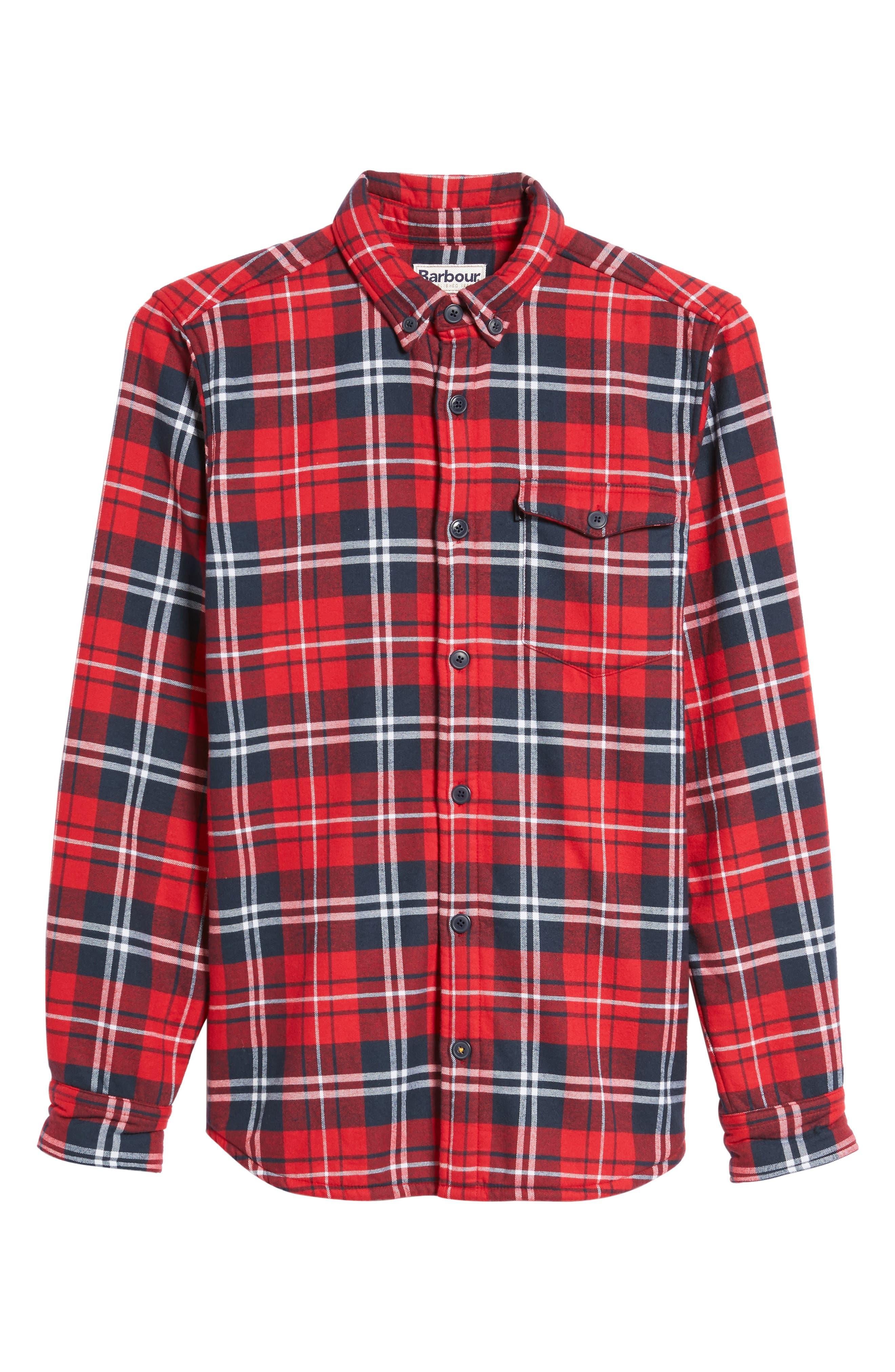 Alternate Image 6  - Barbour Hamilton Regular Fit Faux Fur Lined Shirt Jacket