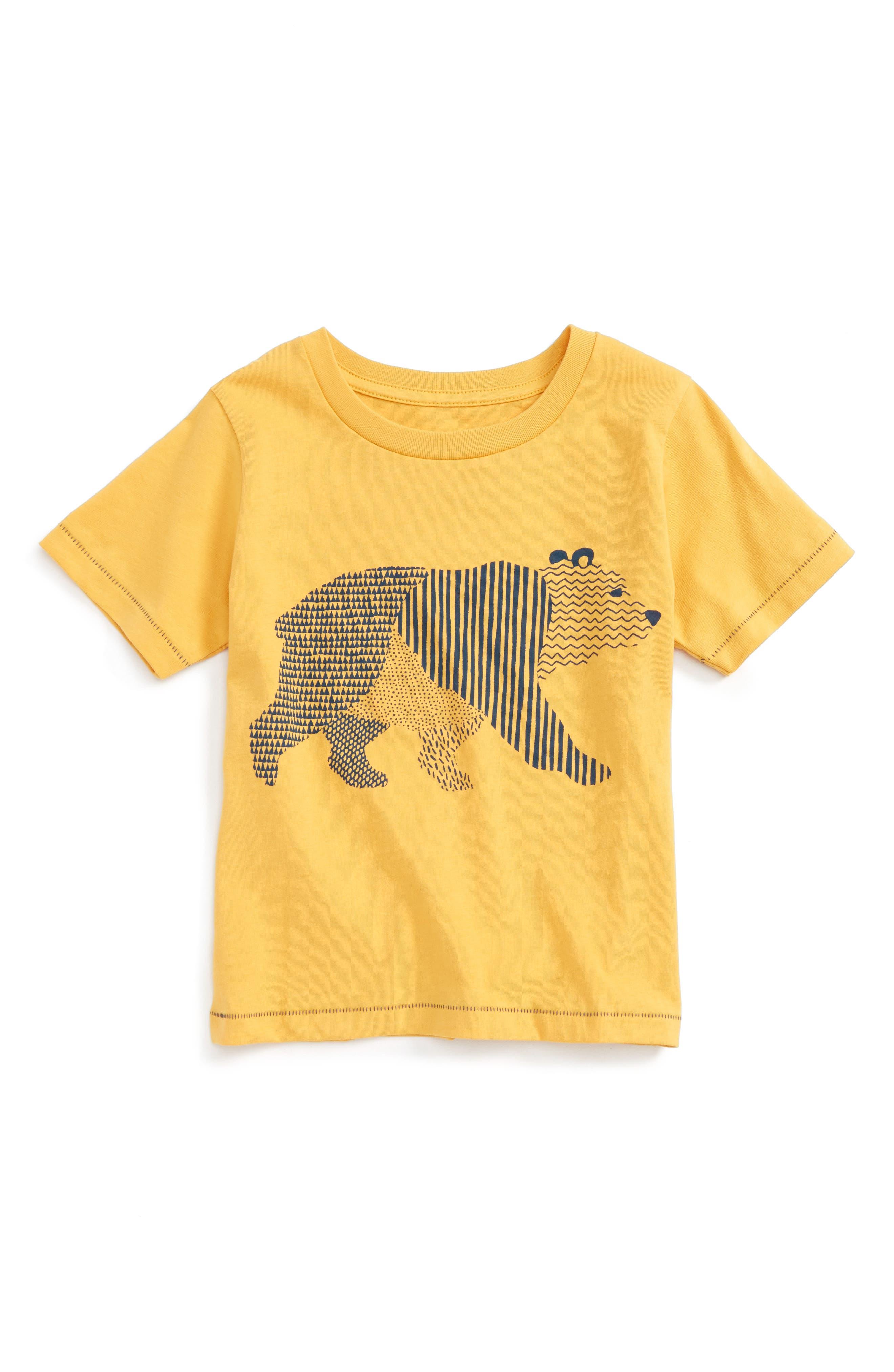 Geo Walking Bear Graphic T-Shirt,                         Main,                         color, Gold