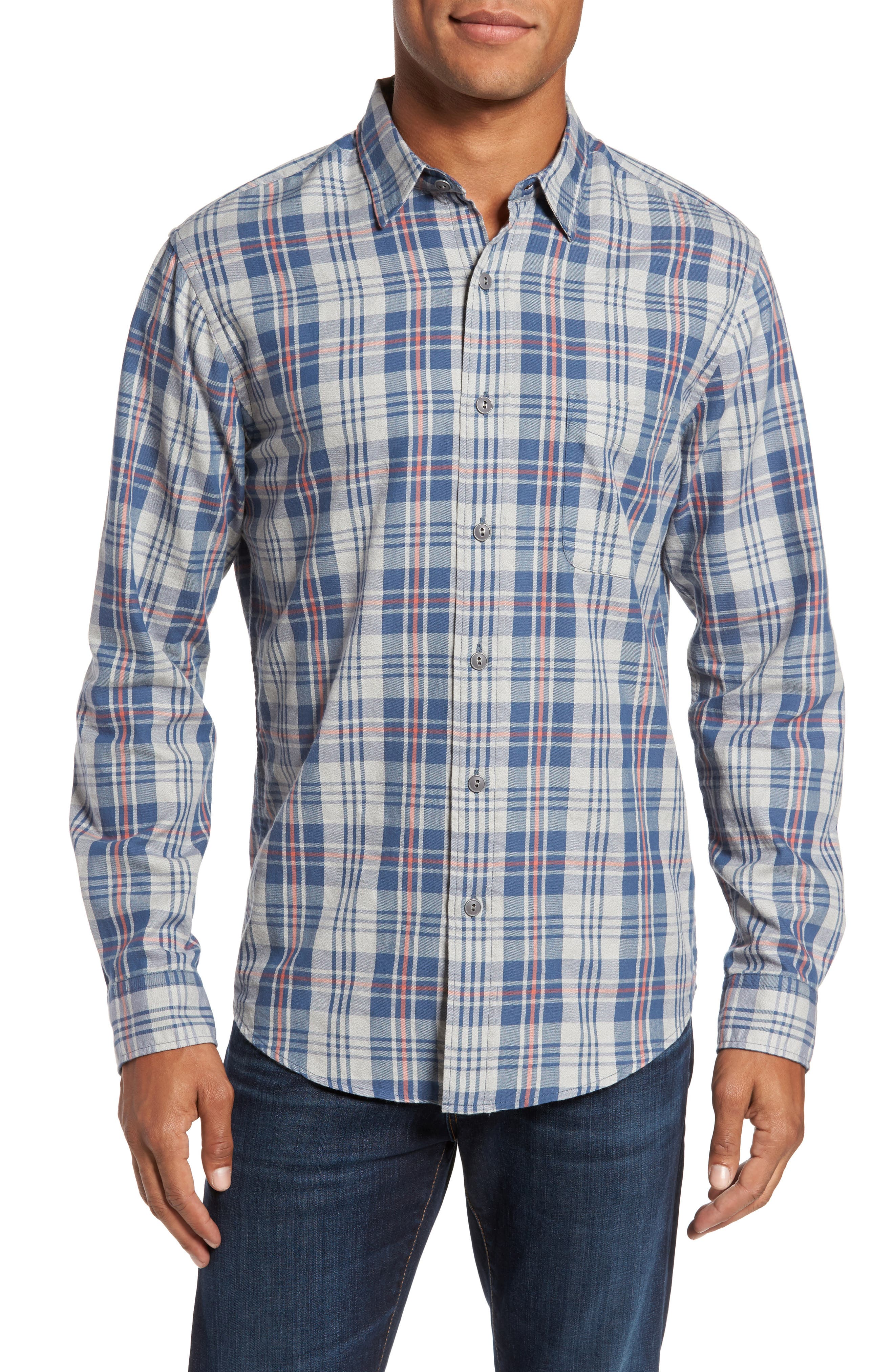 Alternate Image 1 Selected - Faherty Check Sport Shirt