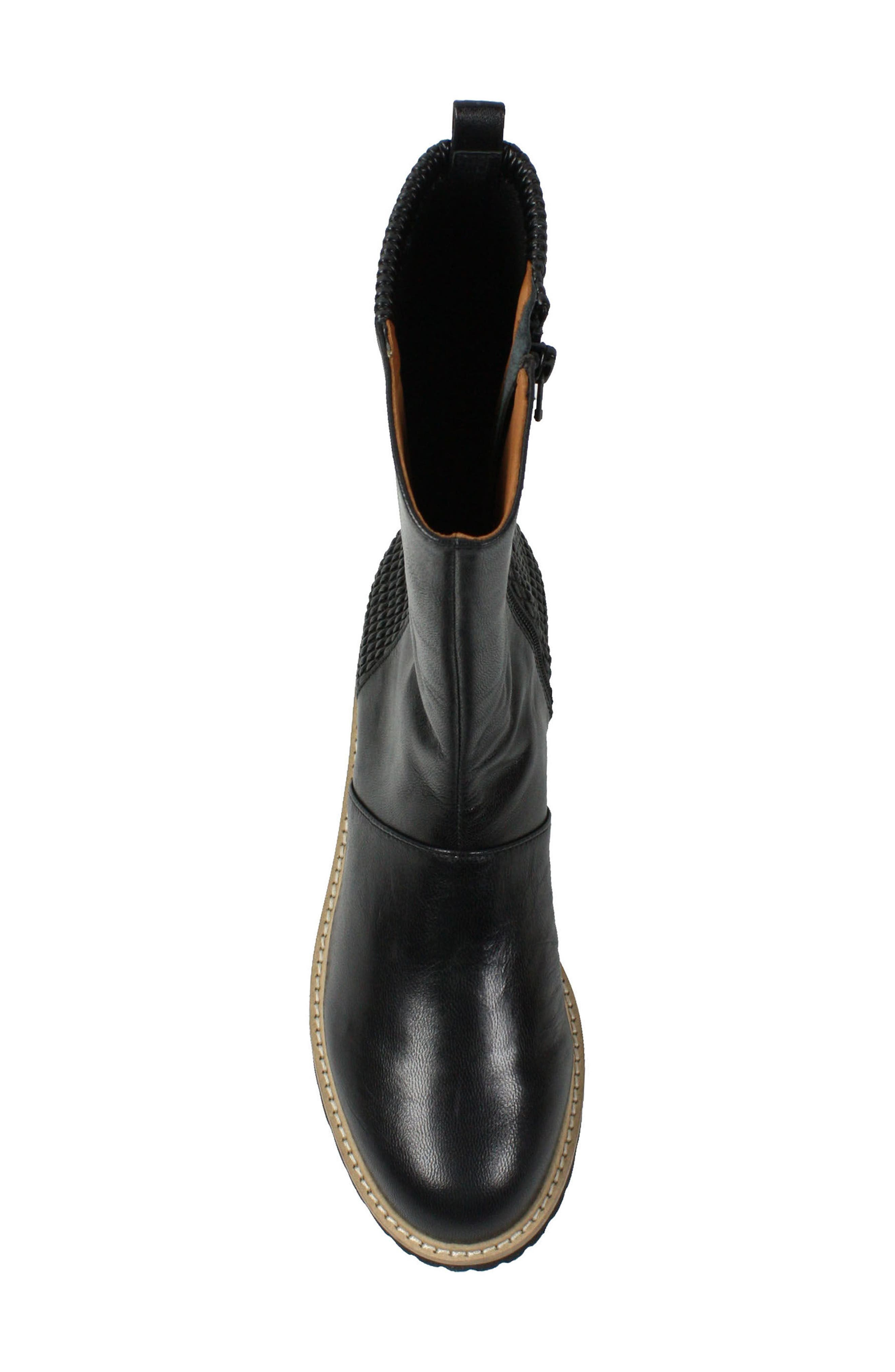 Reyney Boot,                             Alternate thumbnail 4, color,                             Black Leather