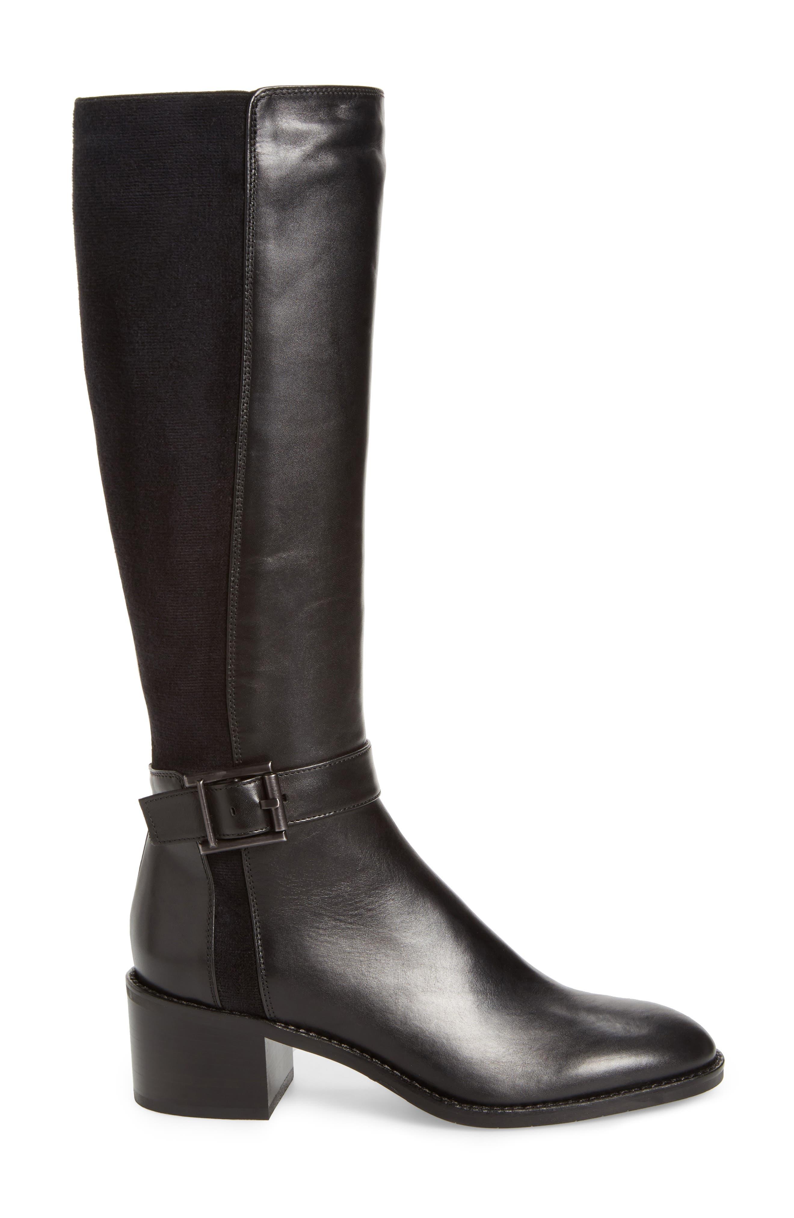 Joanna Weatherproof Tall Boot,                             Alternate thumbnail 3, color,                             Black