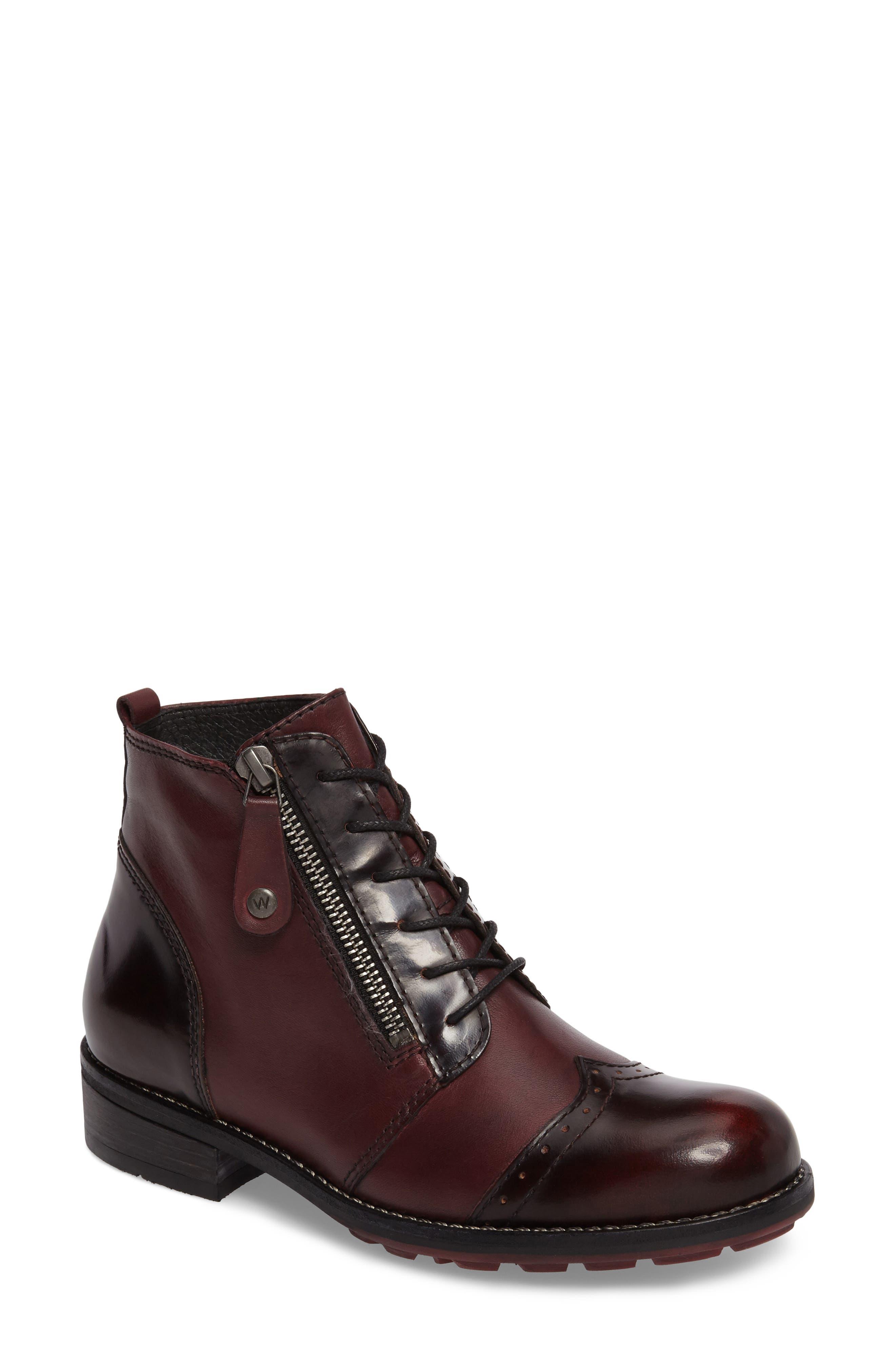 Millstream Boot,                             Main thumbnail 1, color,                             Bordo Leather
